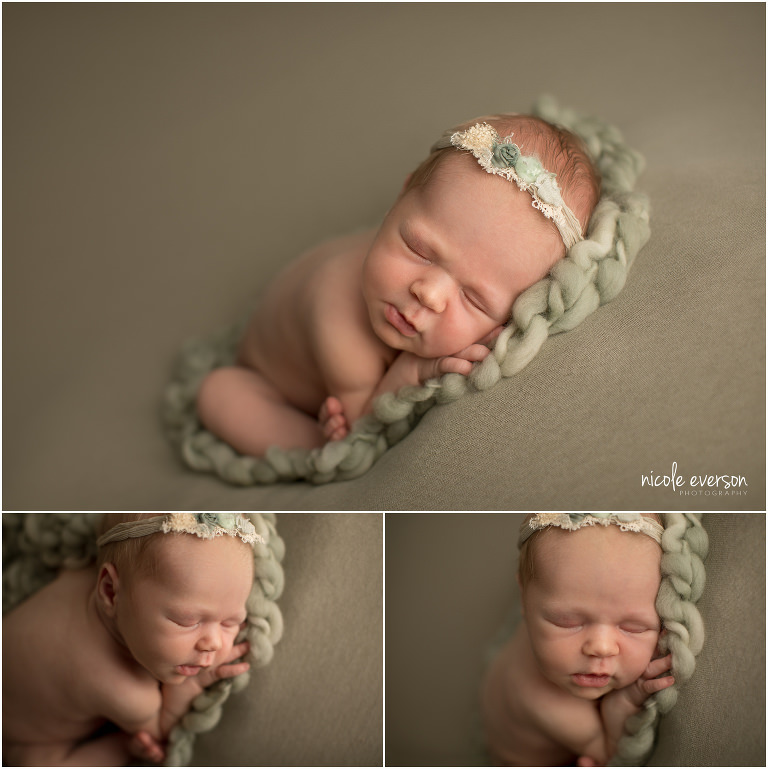 newborn photographed in the taco pose by Nicole Everson Photography Tallahassee