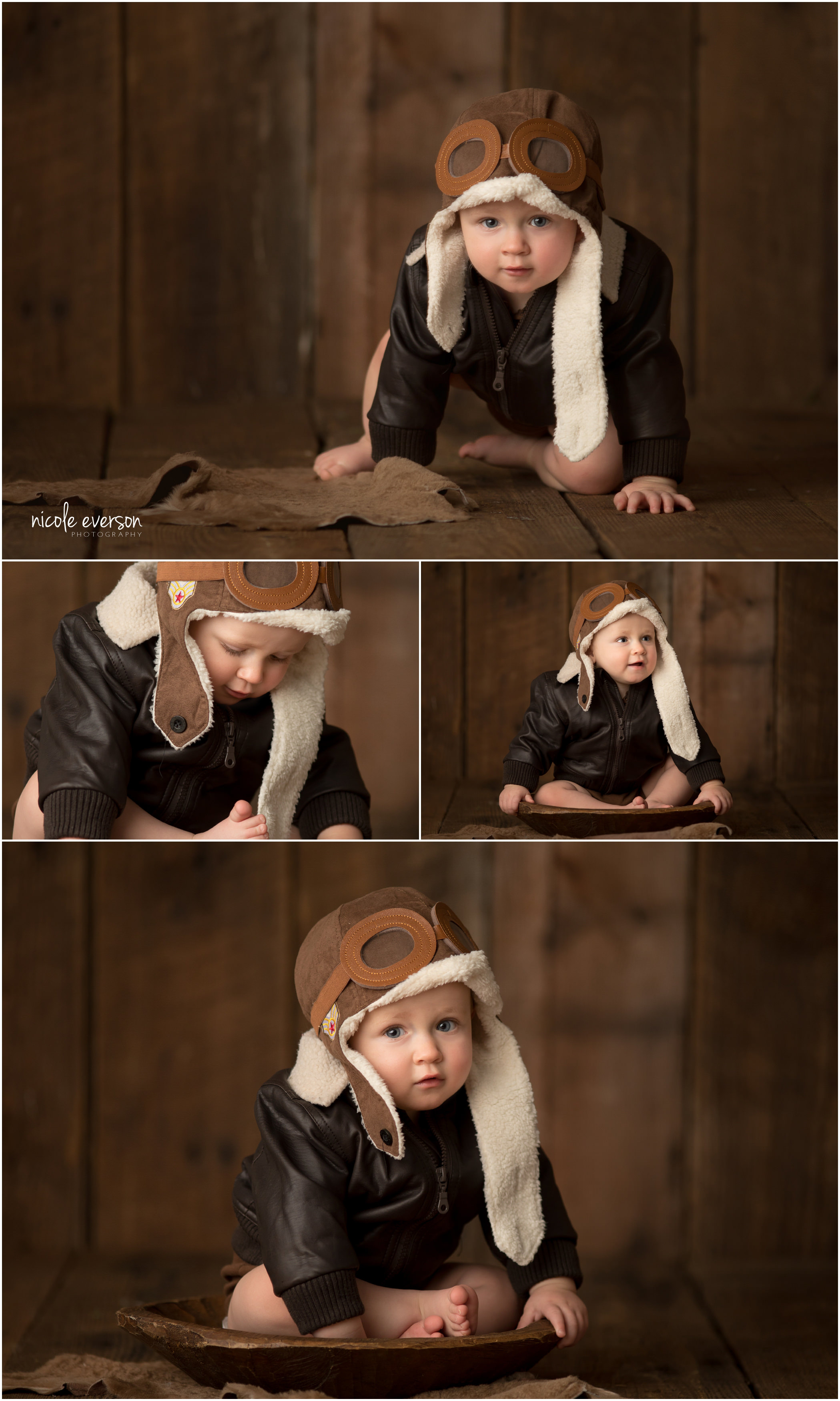aviator baby portrait by Marianna baby photographer