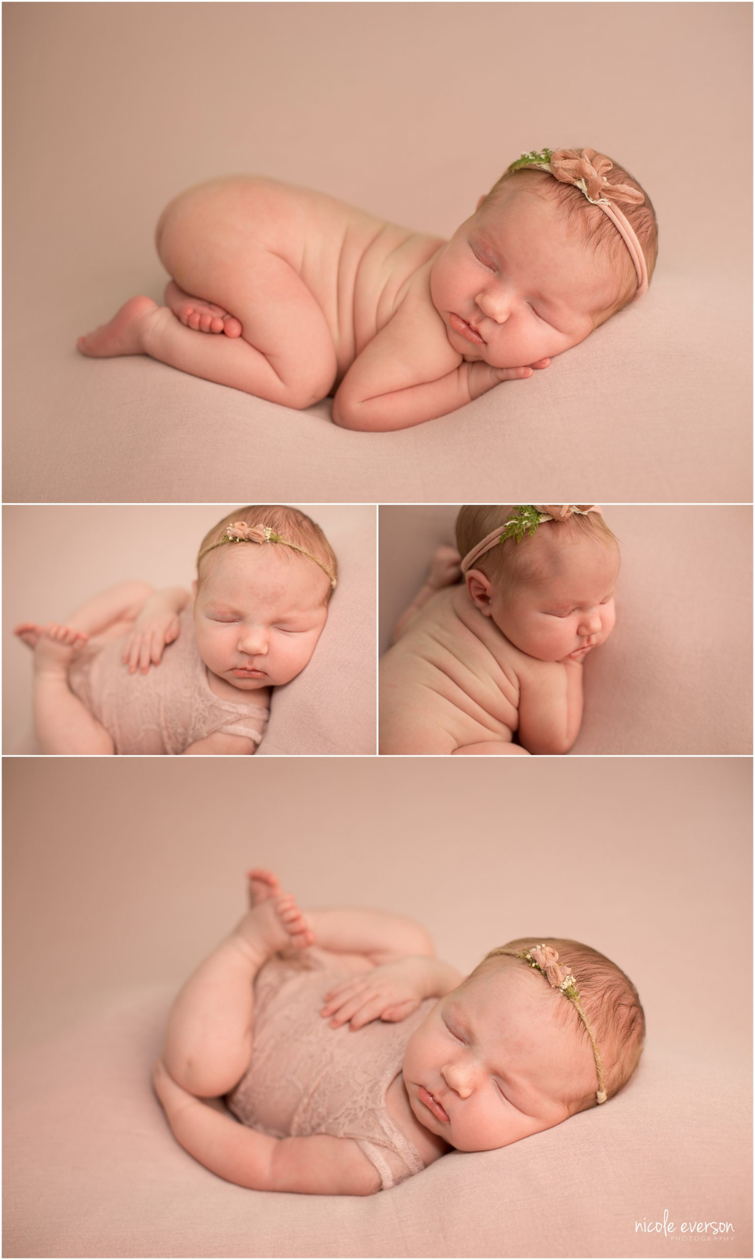 newborn baby girl photographed in Panama City beach Florida