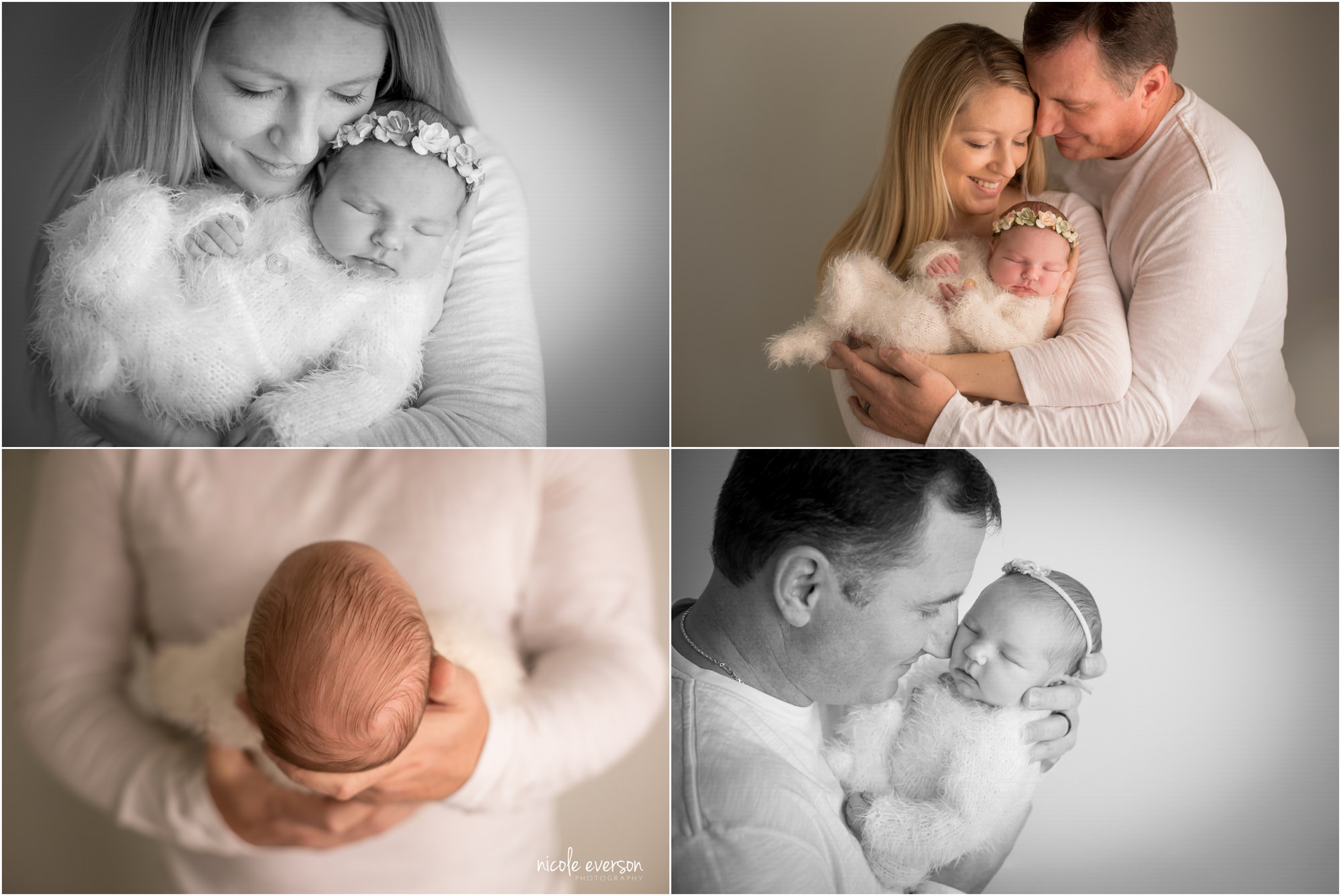 newborn photos with mom and dad