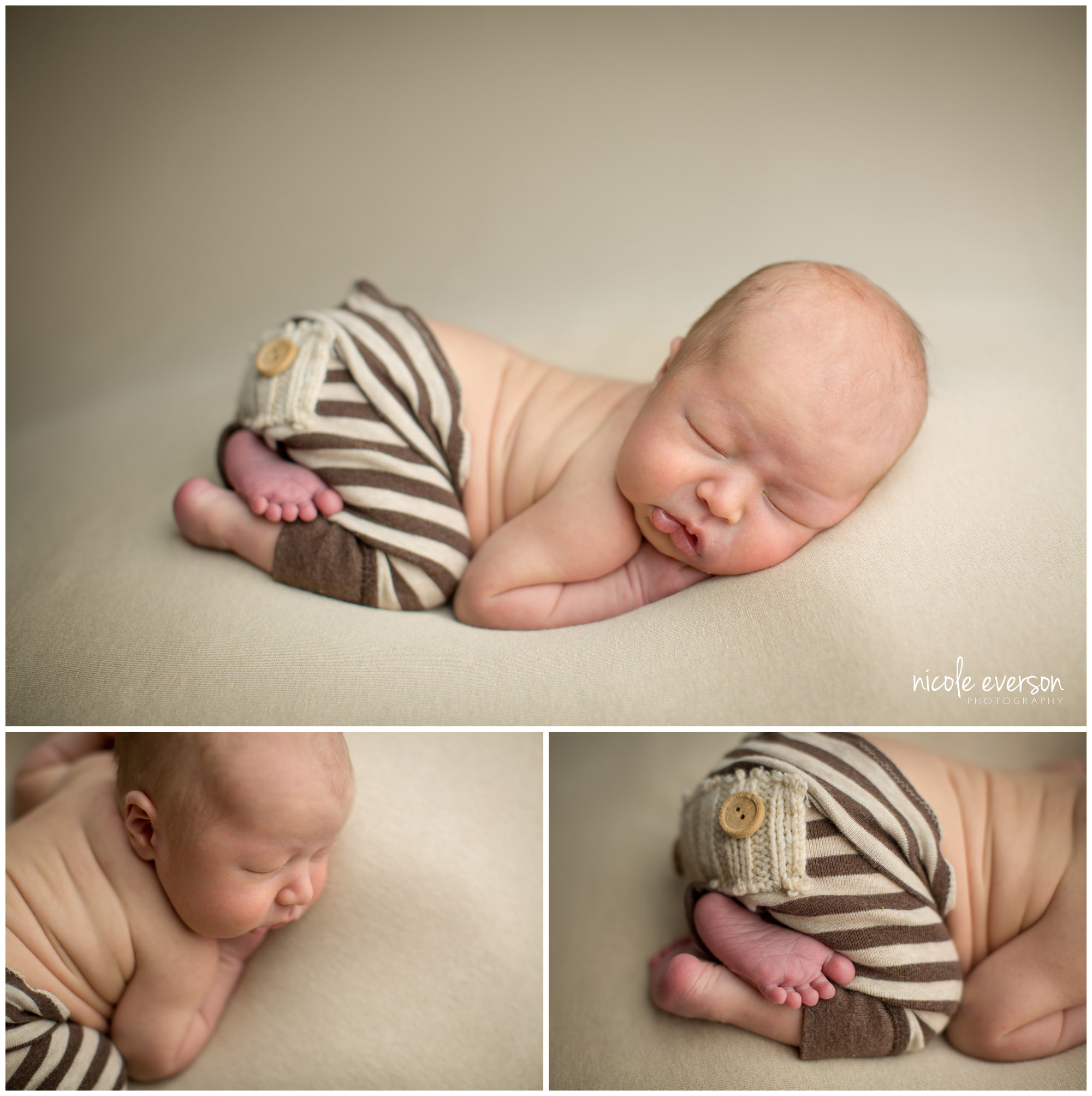 new baby boy photographed Destin FL newborn studio