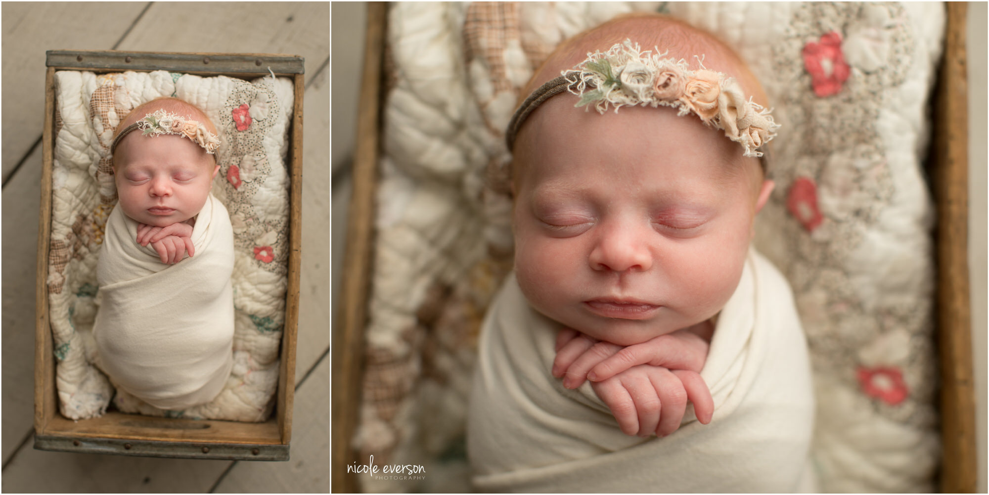 vintage neutral baby photography