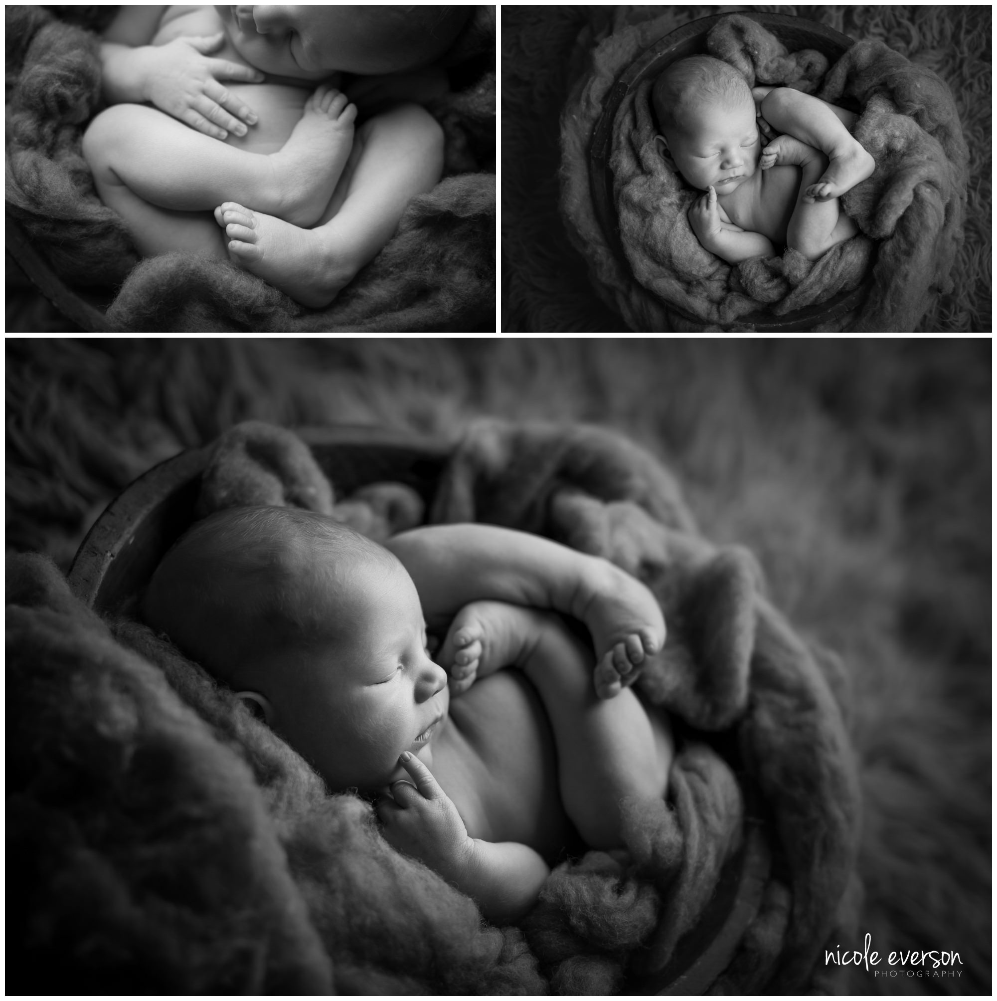 black and white newborn boy pictures Destin Florida