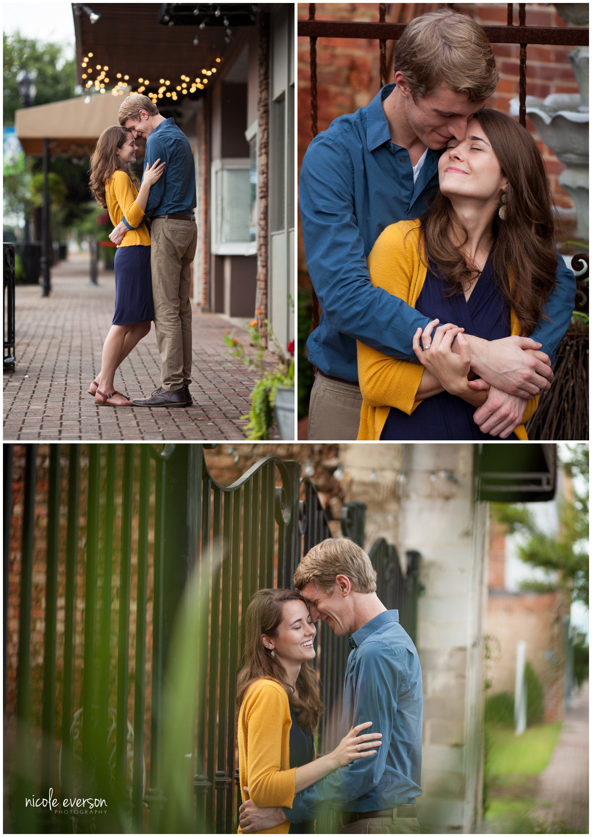 downtown dothan AL engagement pictures