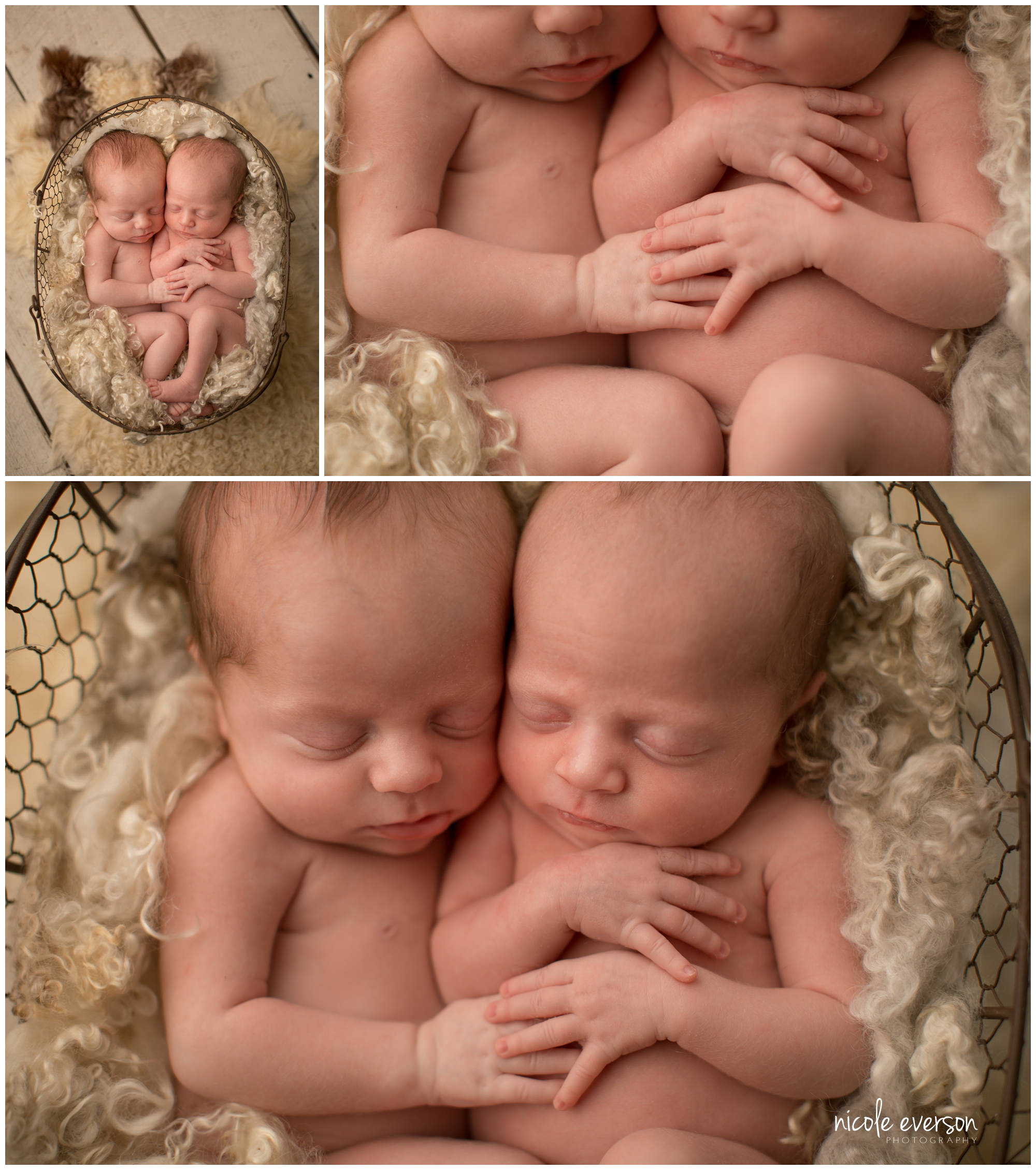 twin newborns photographed in Dothan By Nicole Everson Photography