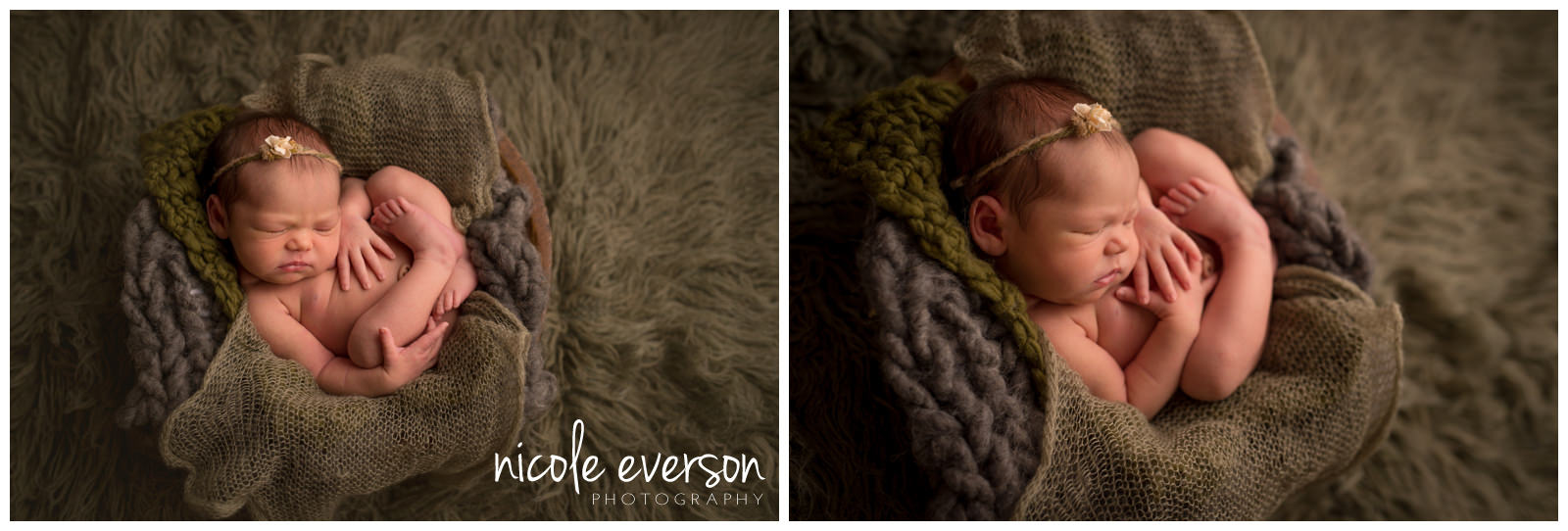 brand new baby photographed by Nicole Everson Photography