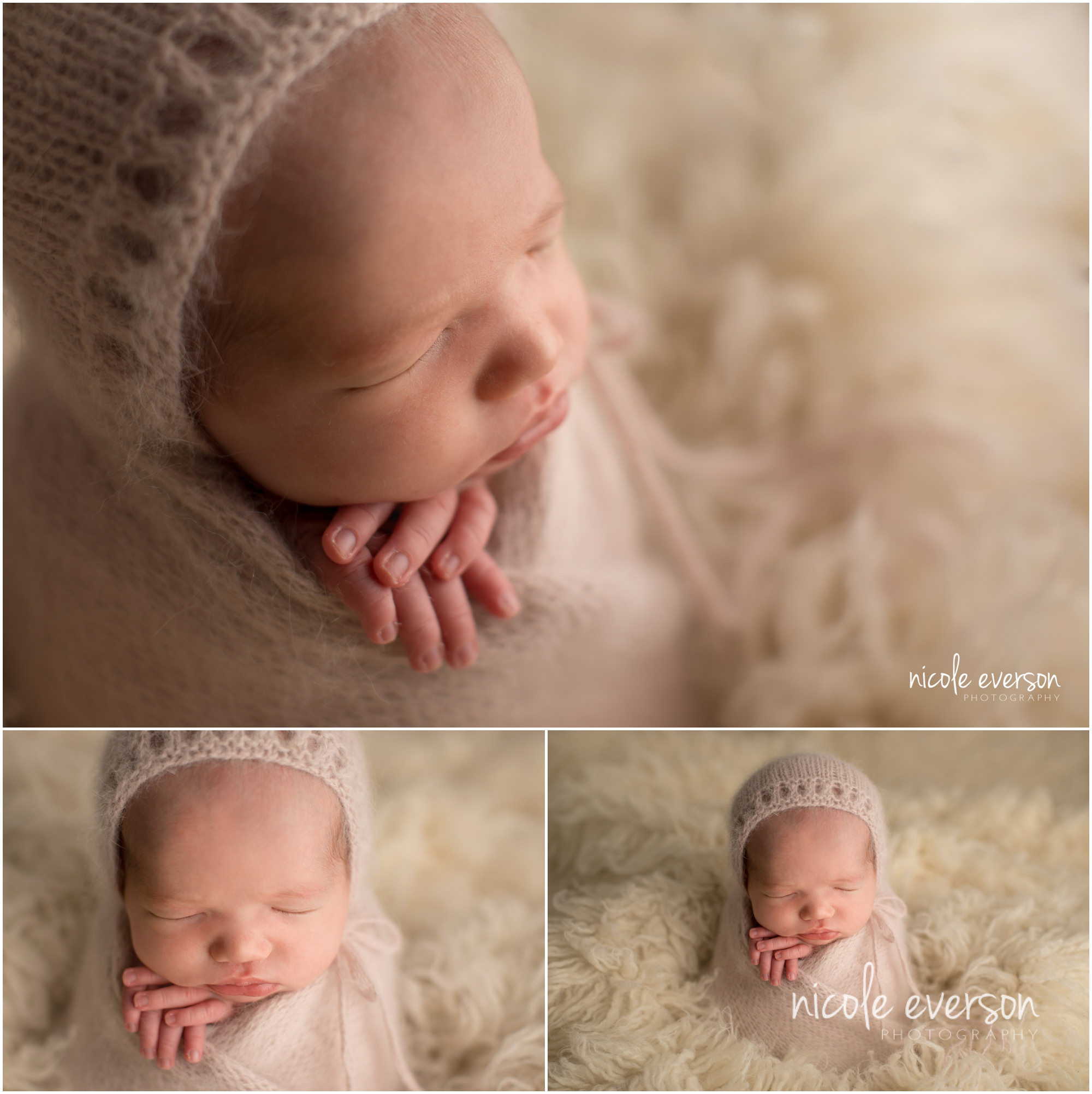 Tallahassee newborn photographed by Nicole Everson Photography
