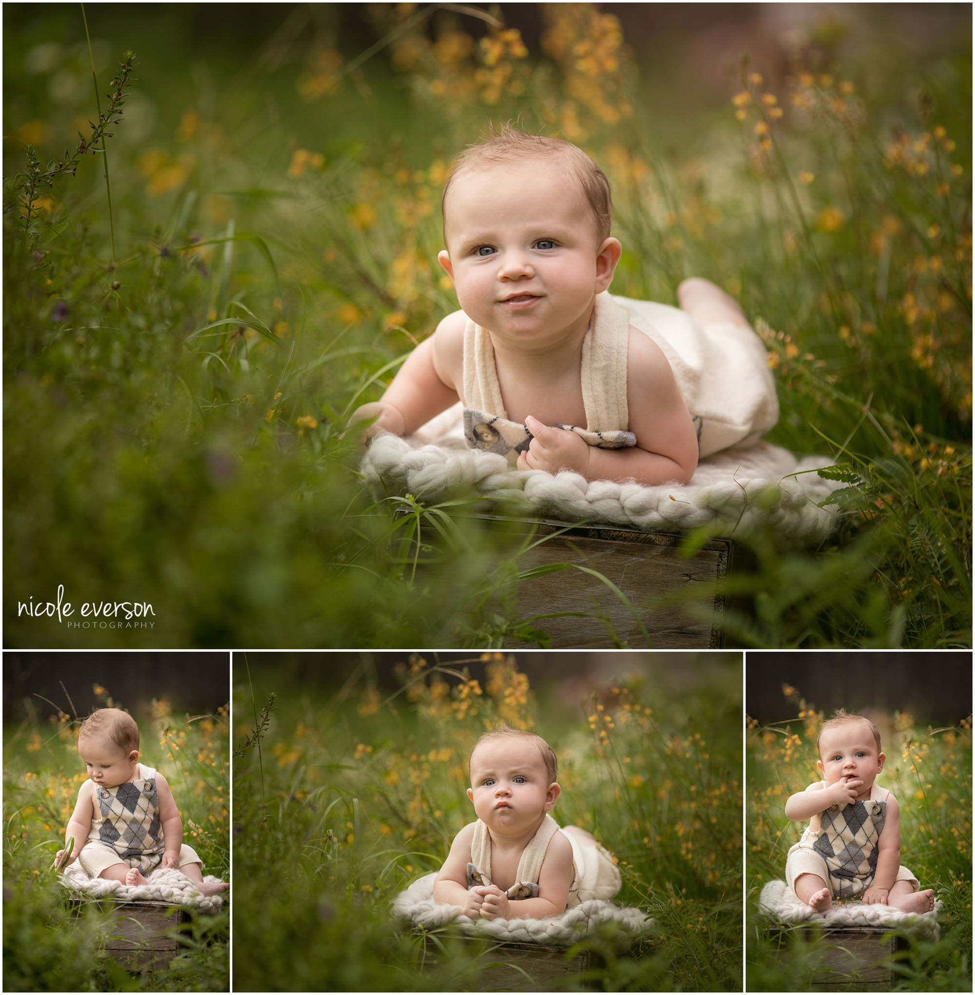 6 month old baby picture photographed in Destin Florida by Nicole Everson Photography