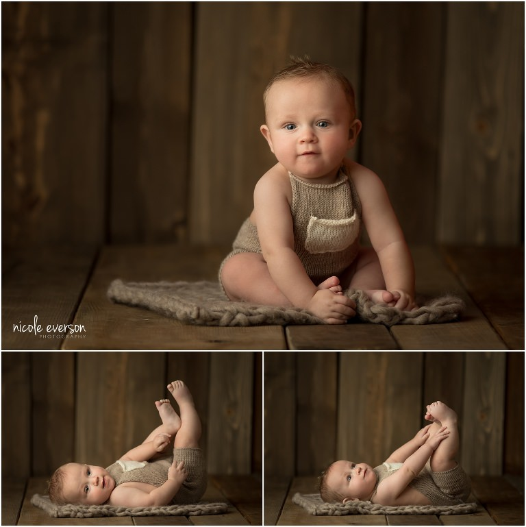 baby in Nicole Everson baby photography studio