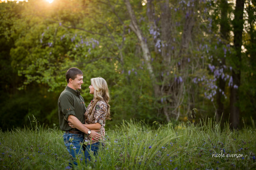 Rustic engagement photographer