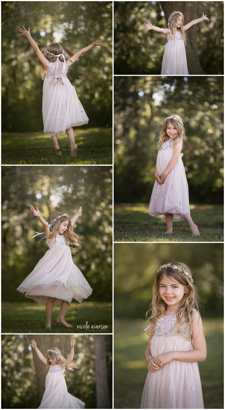 little girl dancing photographed by Nicole Everson Photography