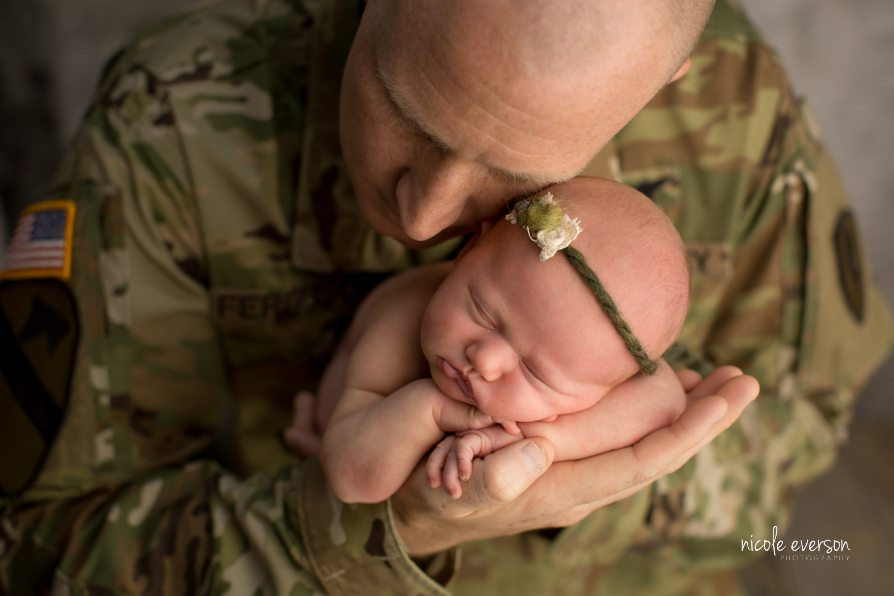 Military newborn photographer