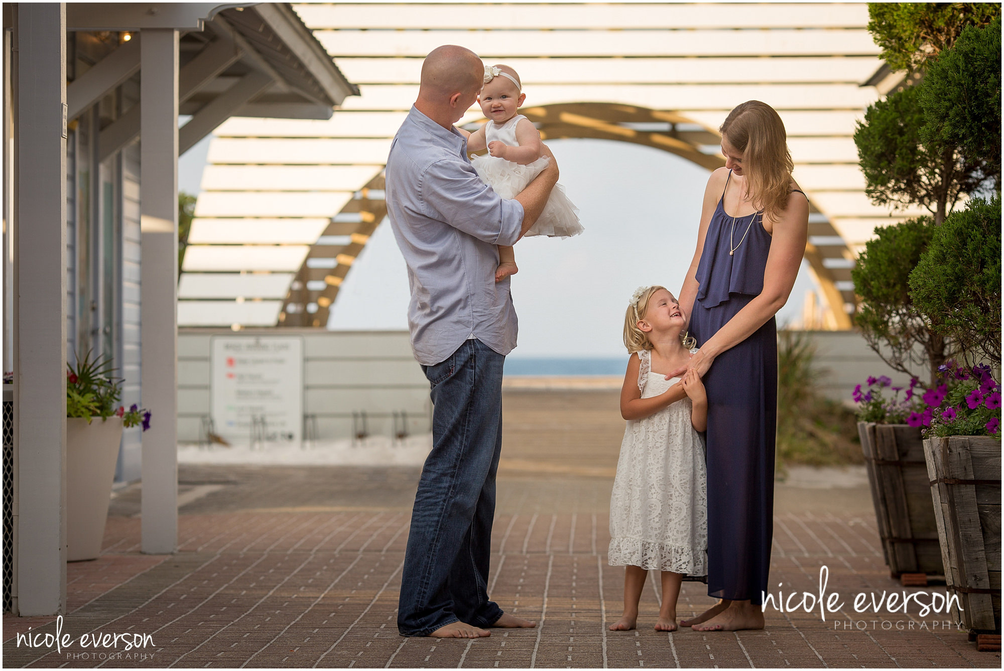 family portraits located in seaside town center