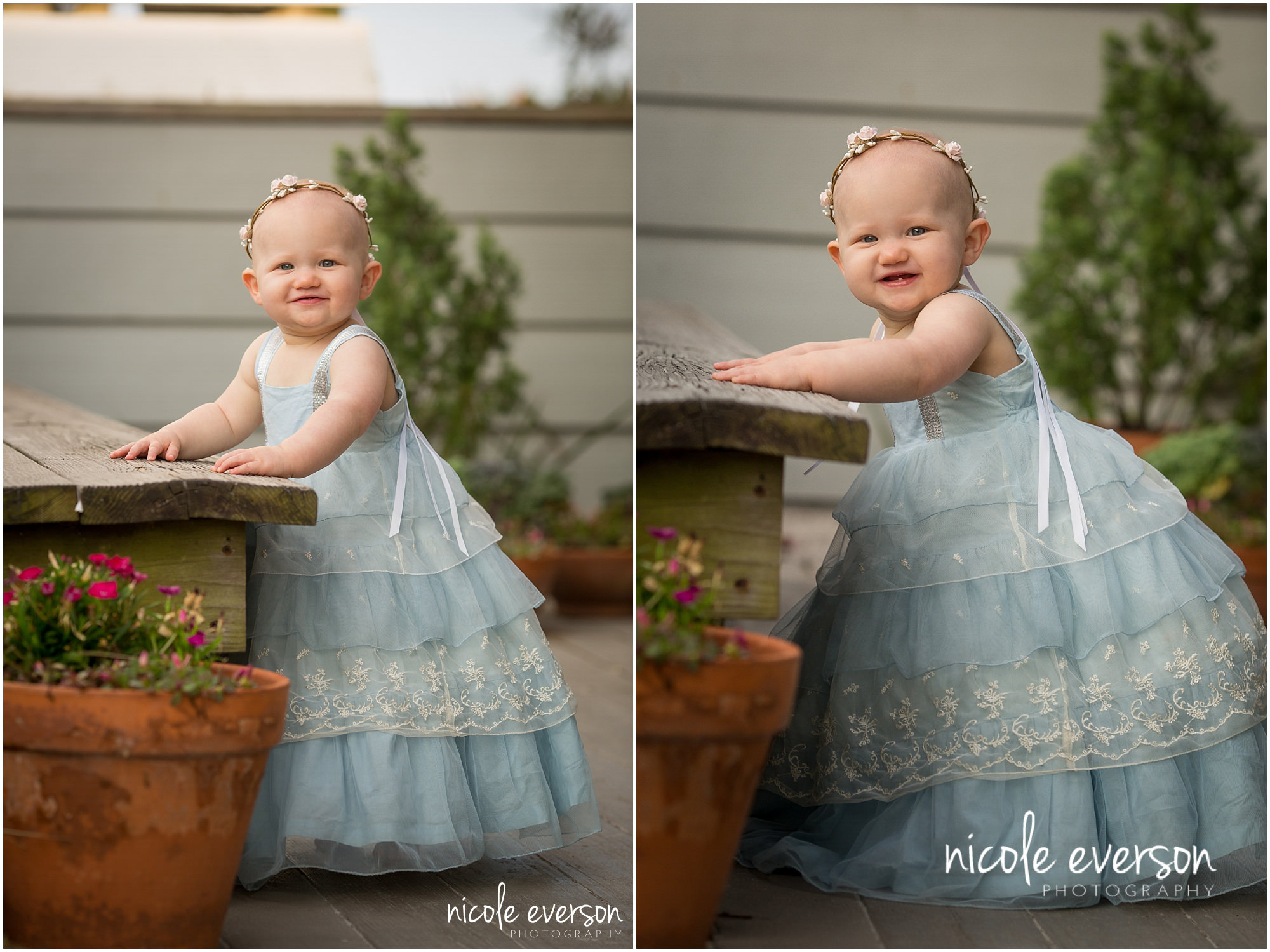 8 month old baby portrait in a well dressed wolf in seaside township photographed by Nicole Everson Photography