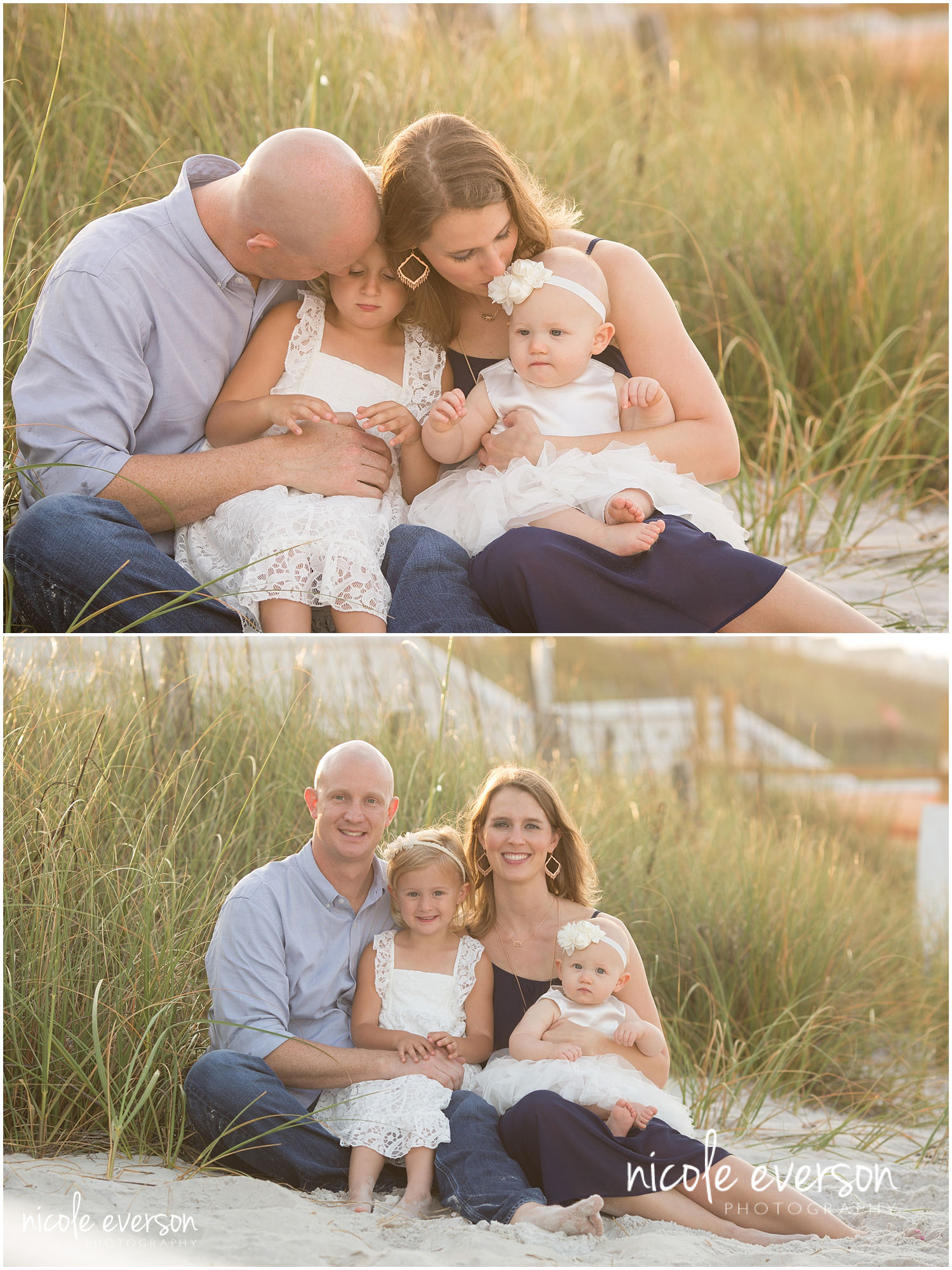 family photographed near seaside fl dunes