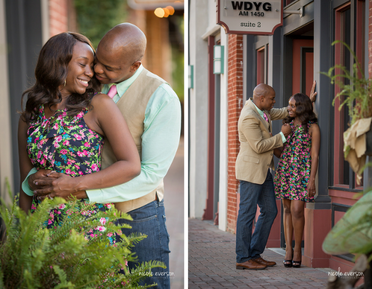 downtown engagement photographer