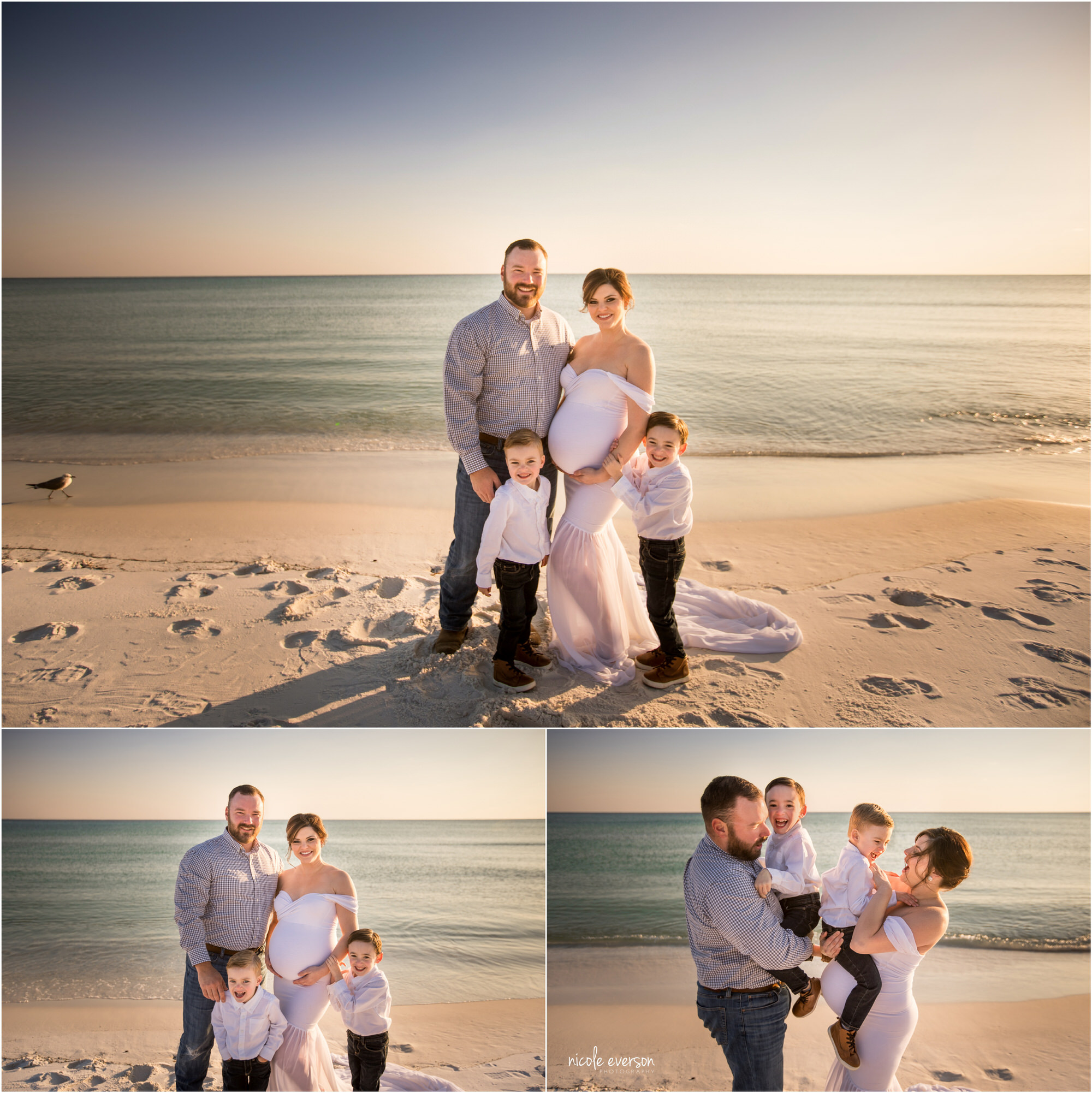 family photos taken on Destin beach