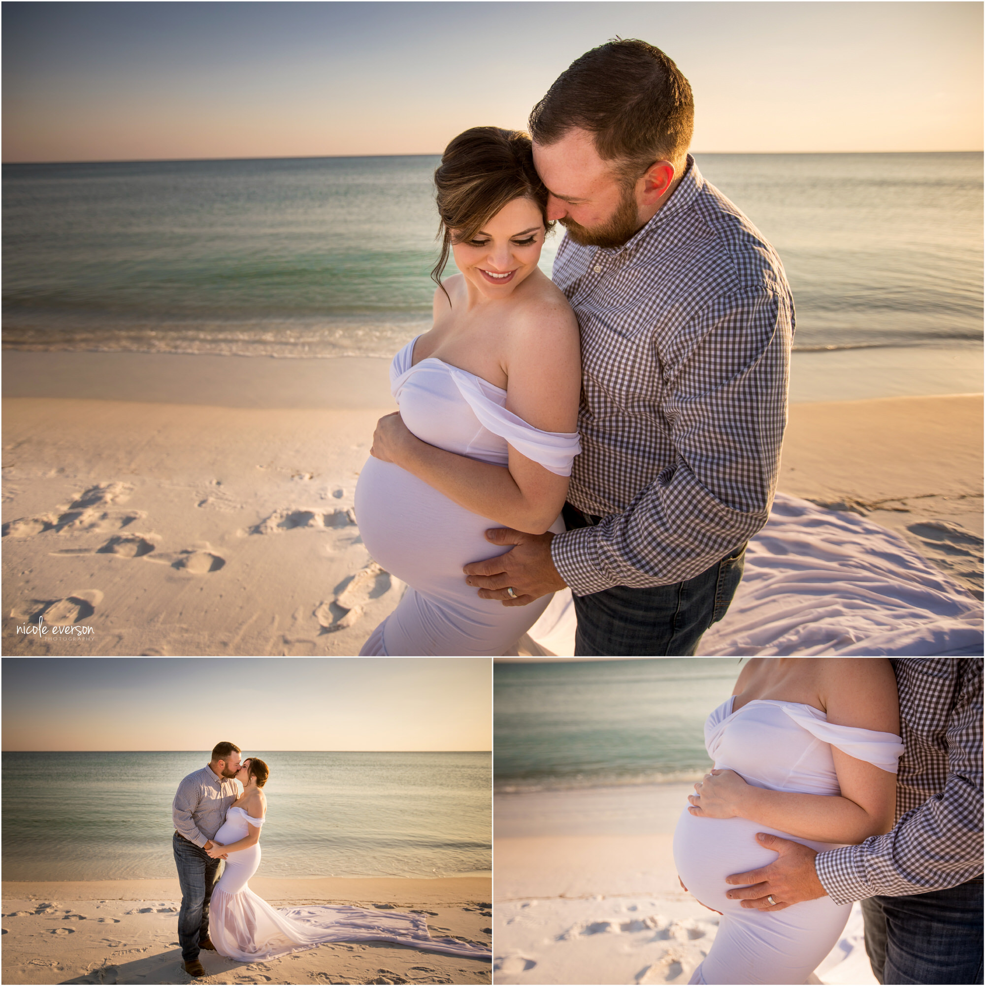 destin beach maternity photos