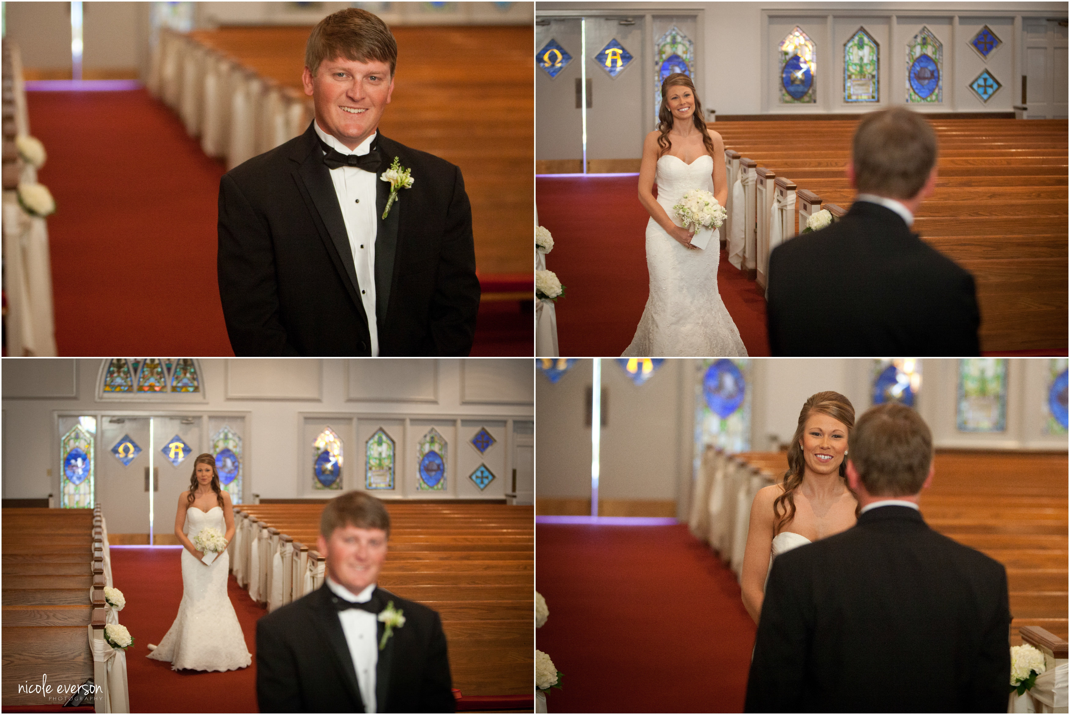 DeFuniak Springs church wedding first look