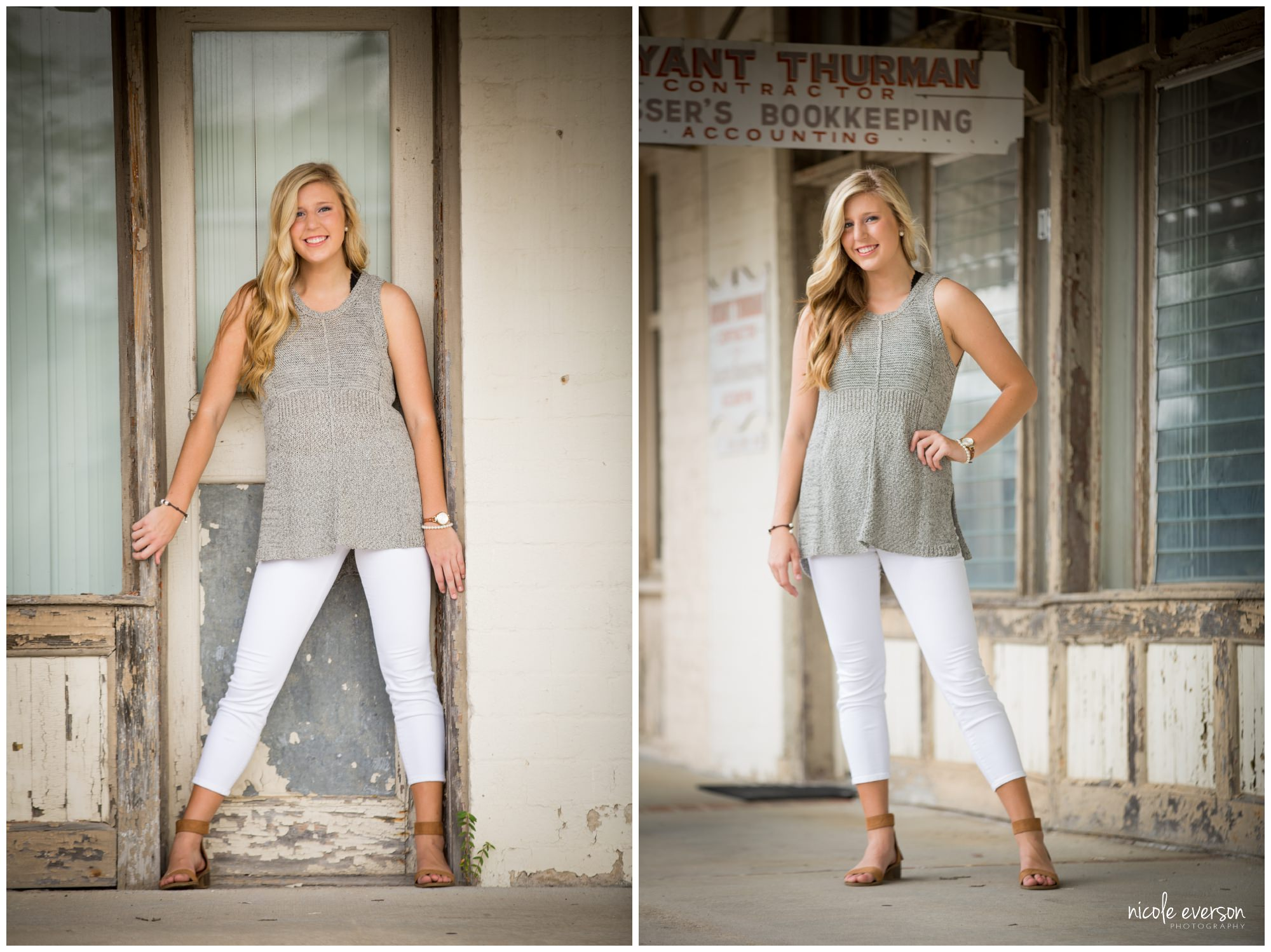 Downtown senior photography
