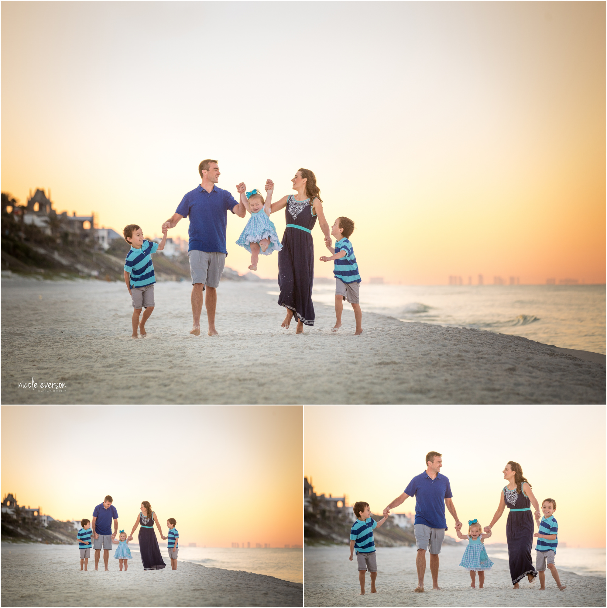 family beach pictures 30a