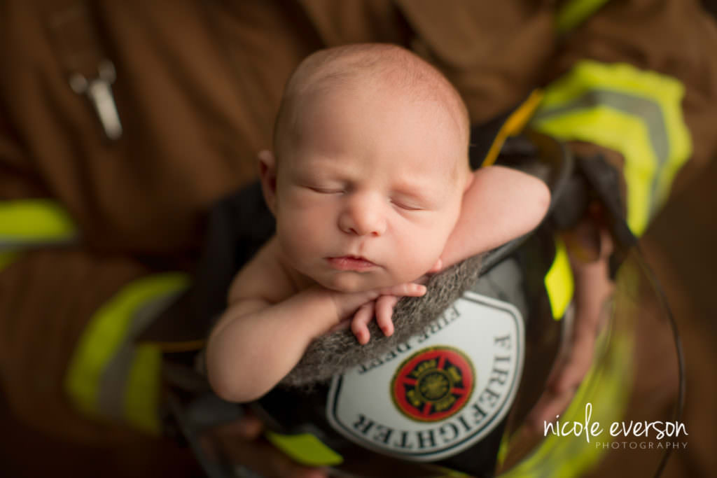 firefighter newborn photoshoot