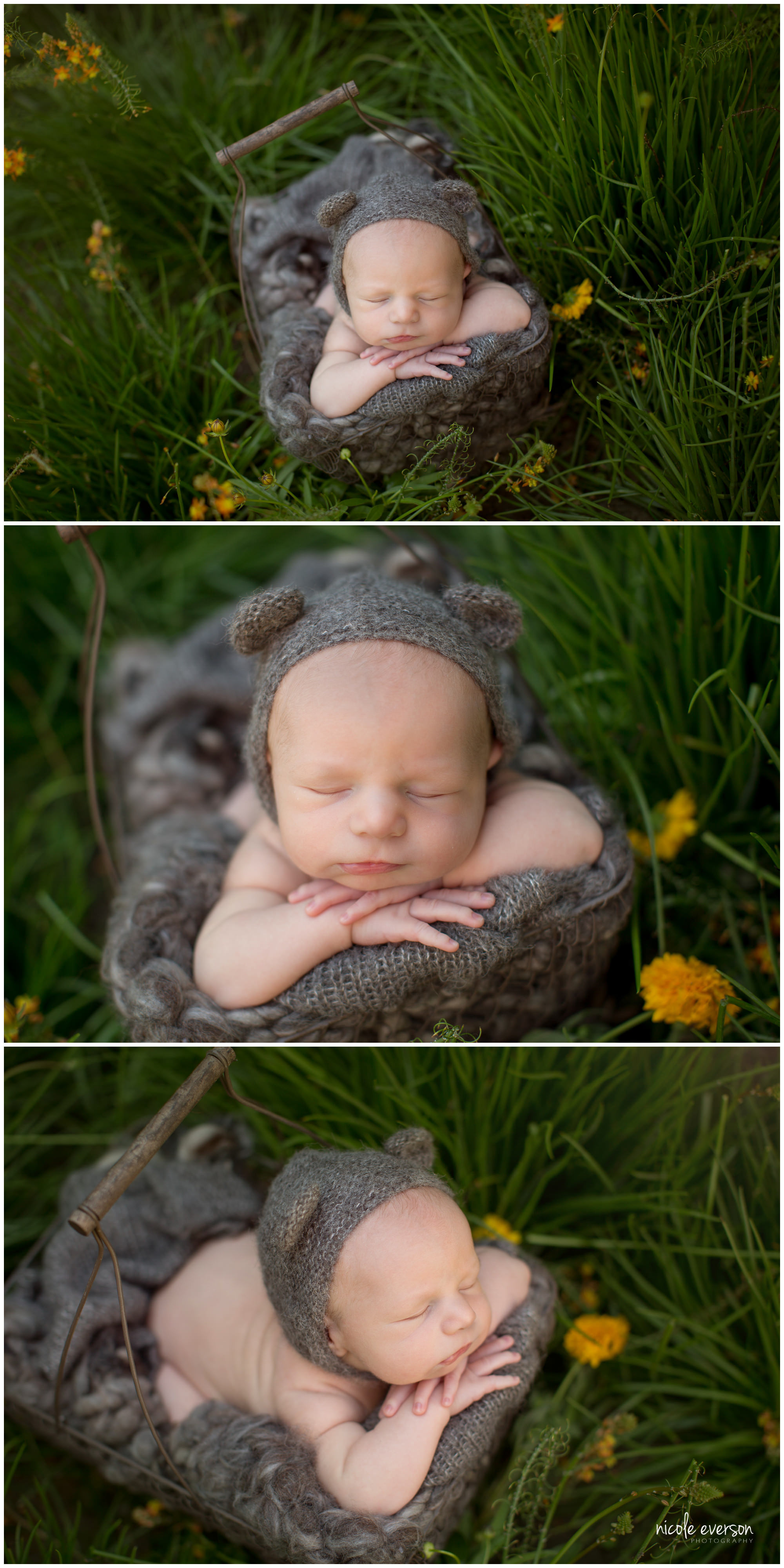 new baby boy photographed outside Fort Walton Beach Florida at Nicole Everson Photography