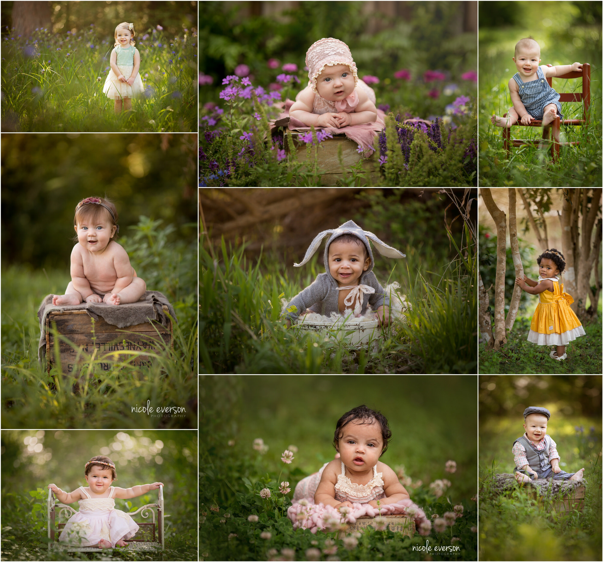photographs of babies photographed in Tallahassee FL