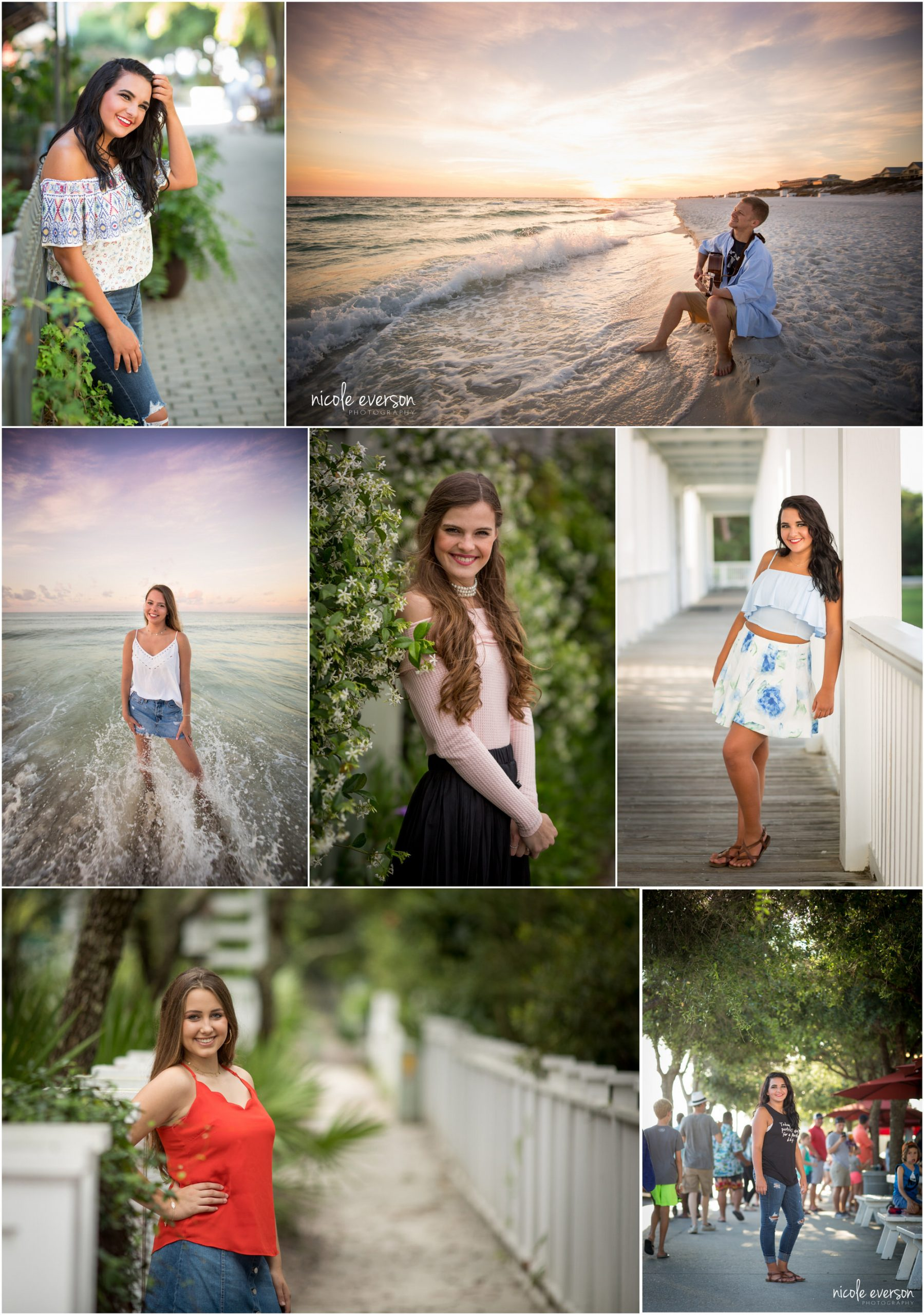 high school seniors photographed in seaside by Nicole Everson Photography
