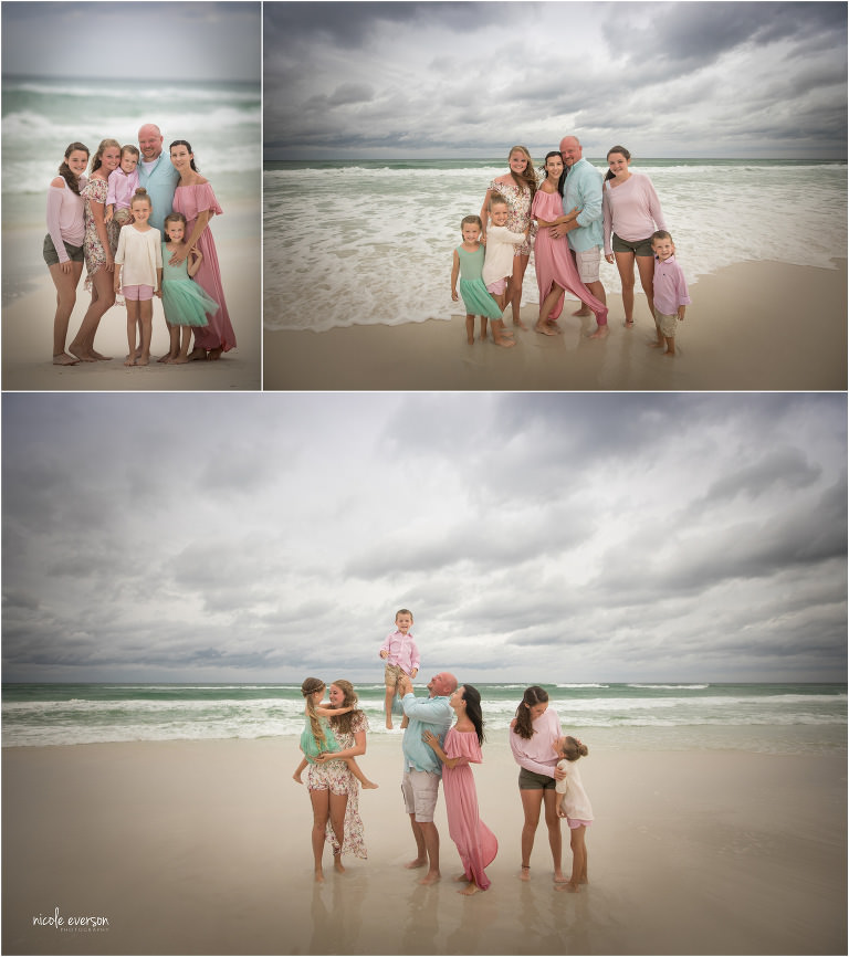 family photos down in Destin Florida with Nicole Everson Photography