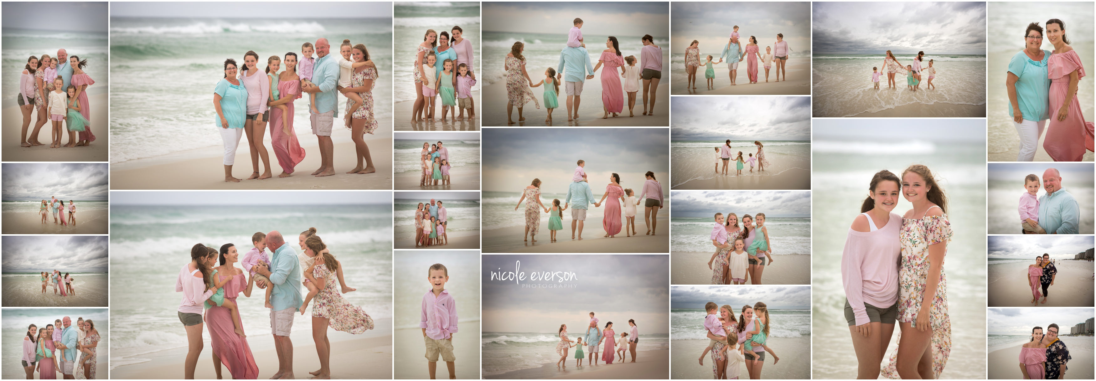 family pictures on Destin beach