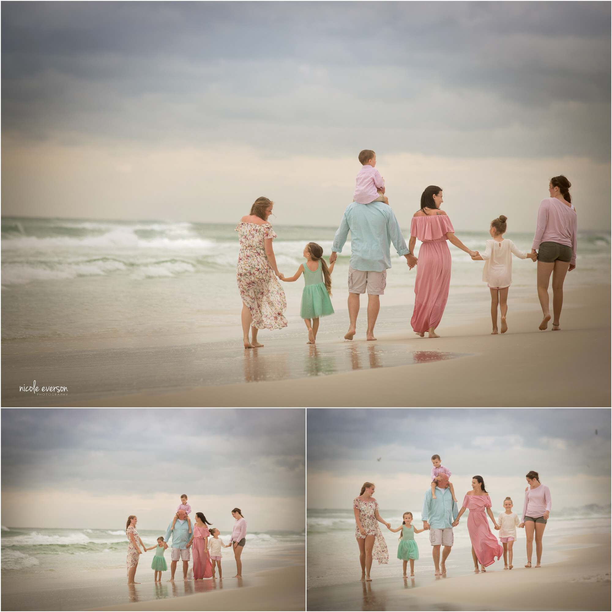 family beach portraits with Nicole Everson Photography