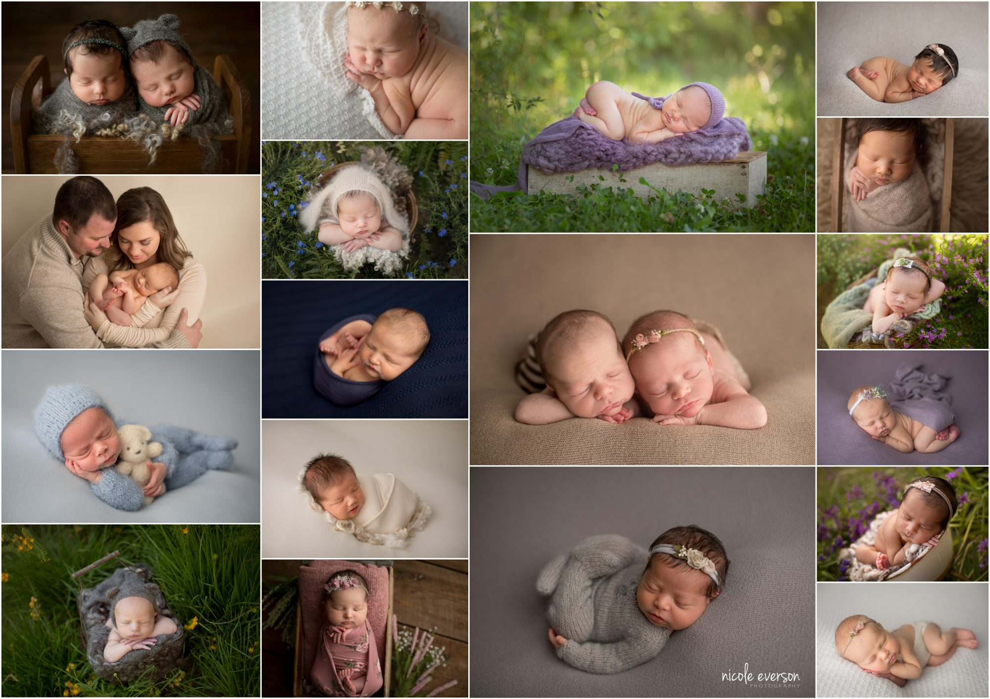 newborn baby photographed in santa rosa beach by Nicole Everson Photography