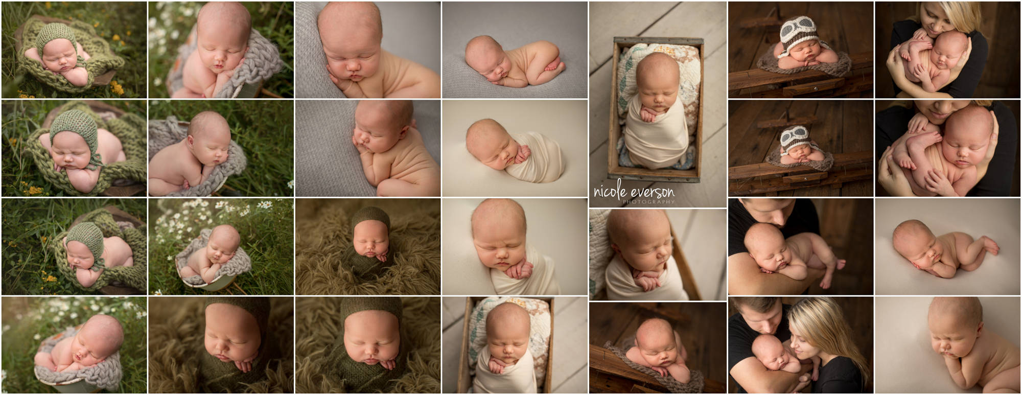 newborn photographed by Nicole Everson Photography destin florida