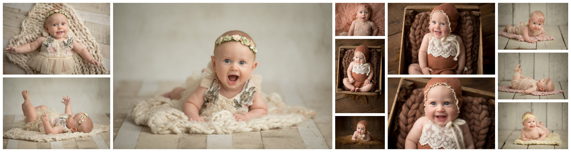 4 month old baby girl photographed by Nicole Everson Photography