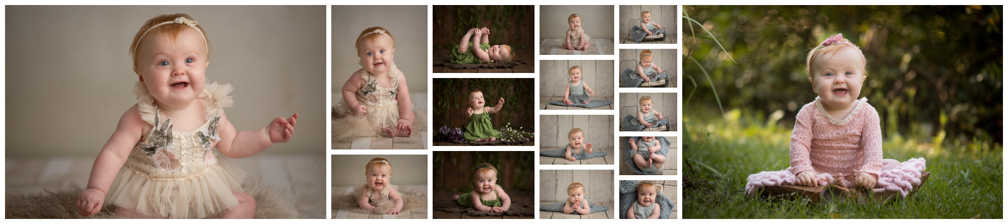 8 month old baby portraits