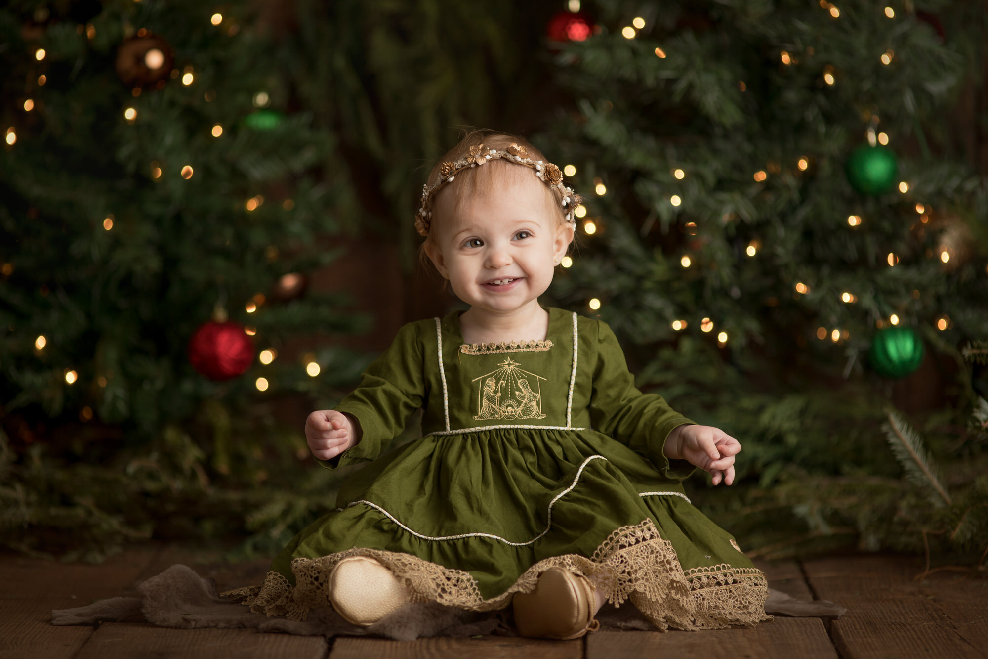 christmas pictures in Santa Rosa beach Florida studio
