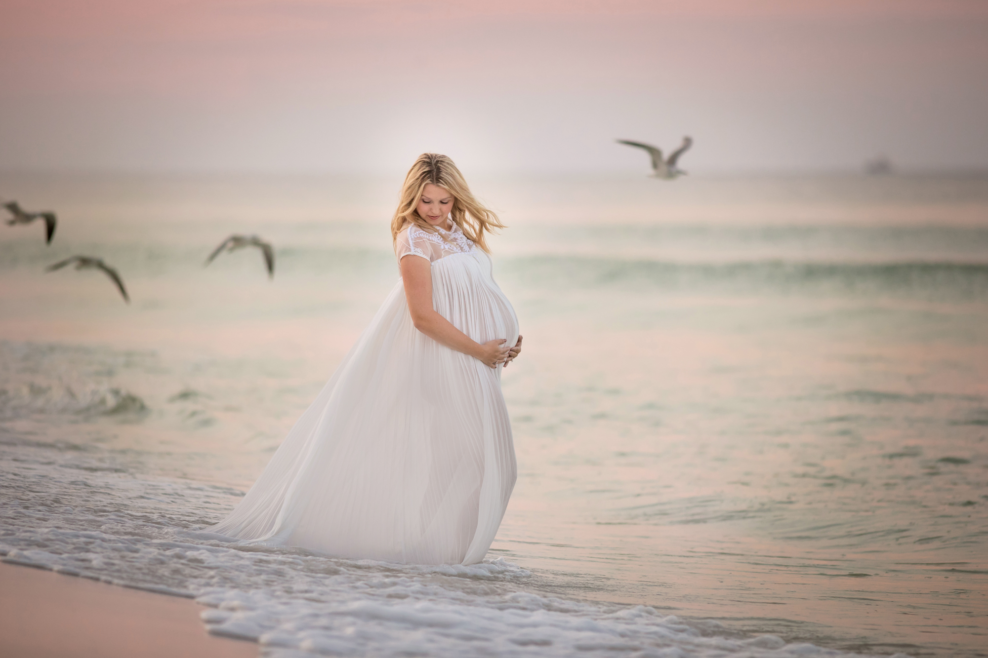 Destin beach maternity photographer