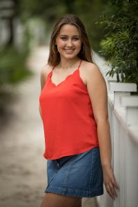 senior girl photographed in rosemary beach in 30a