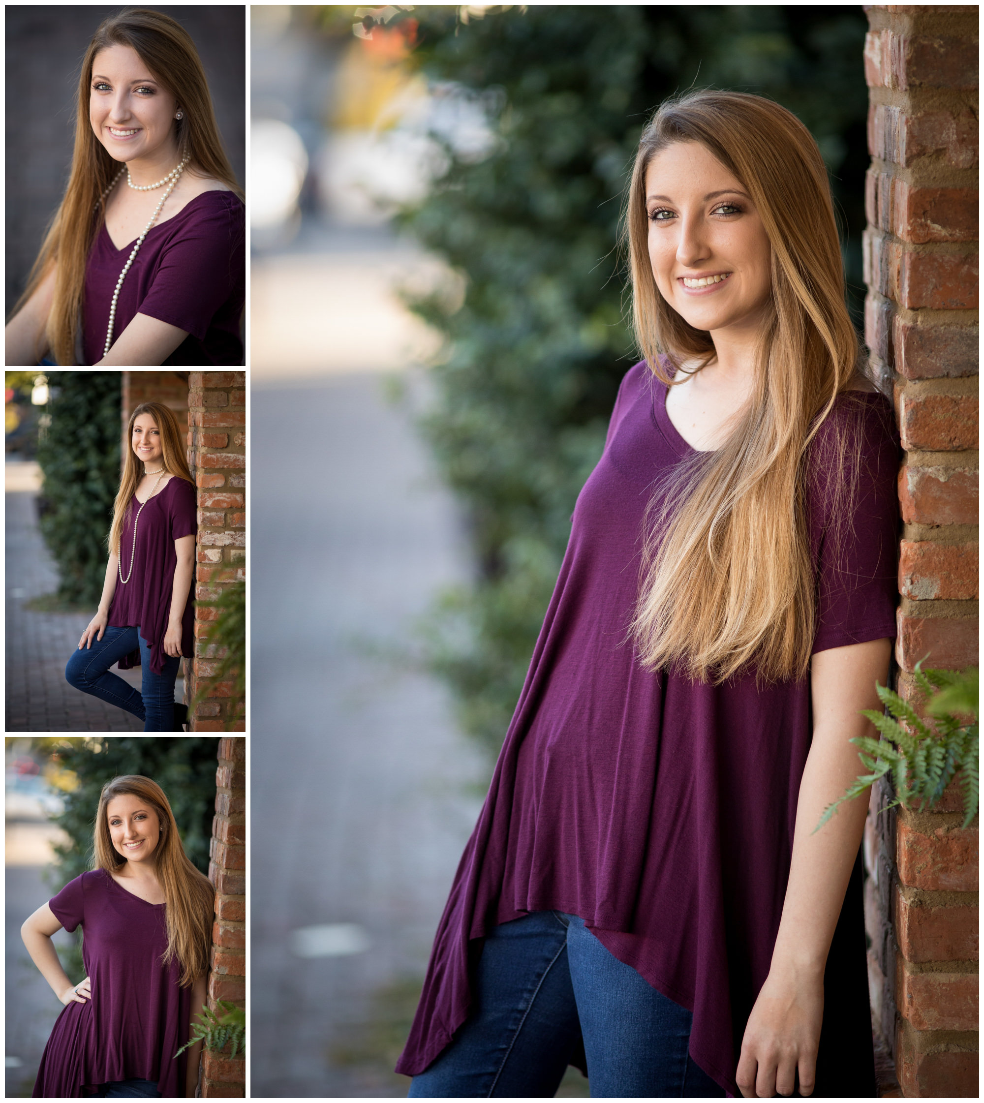 Senior portraits on Foster street in downtown Dothan, AL. Nicole Everson Photography.
