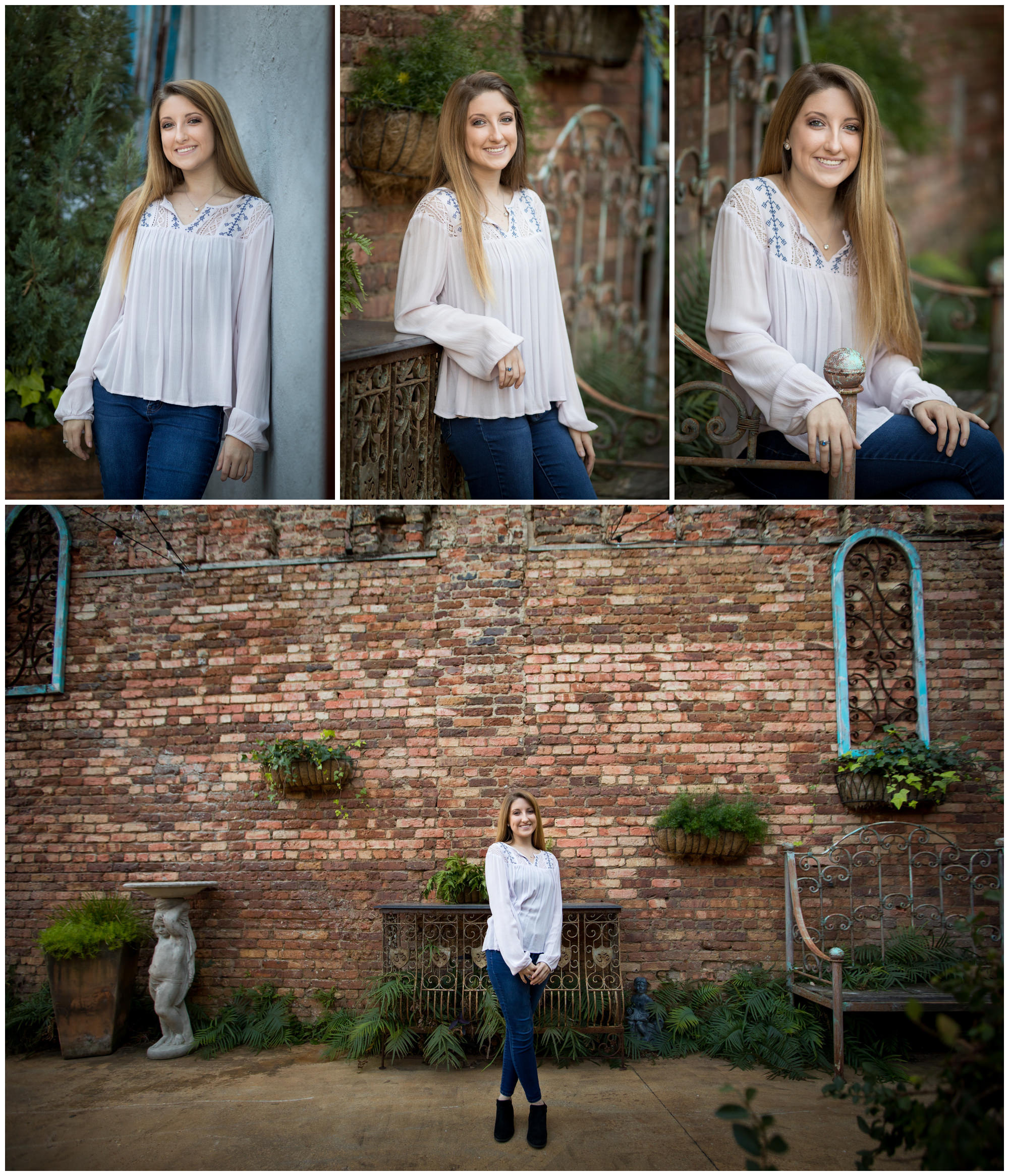 Senior pictures on Foster street in downtown Dothan, AL. Nicole Everson Photography.