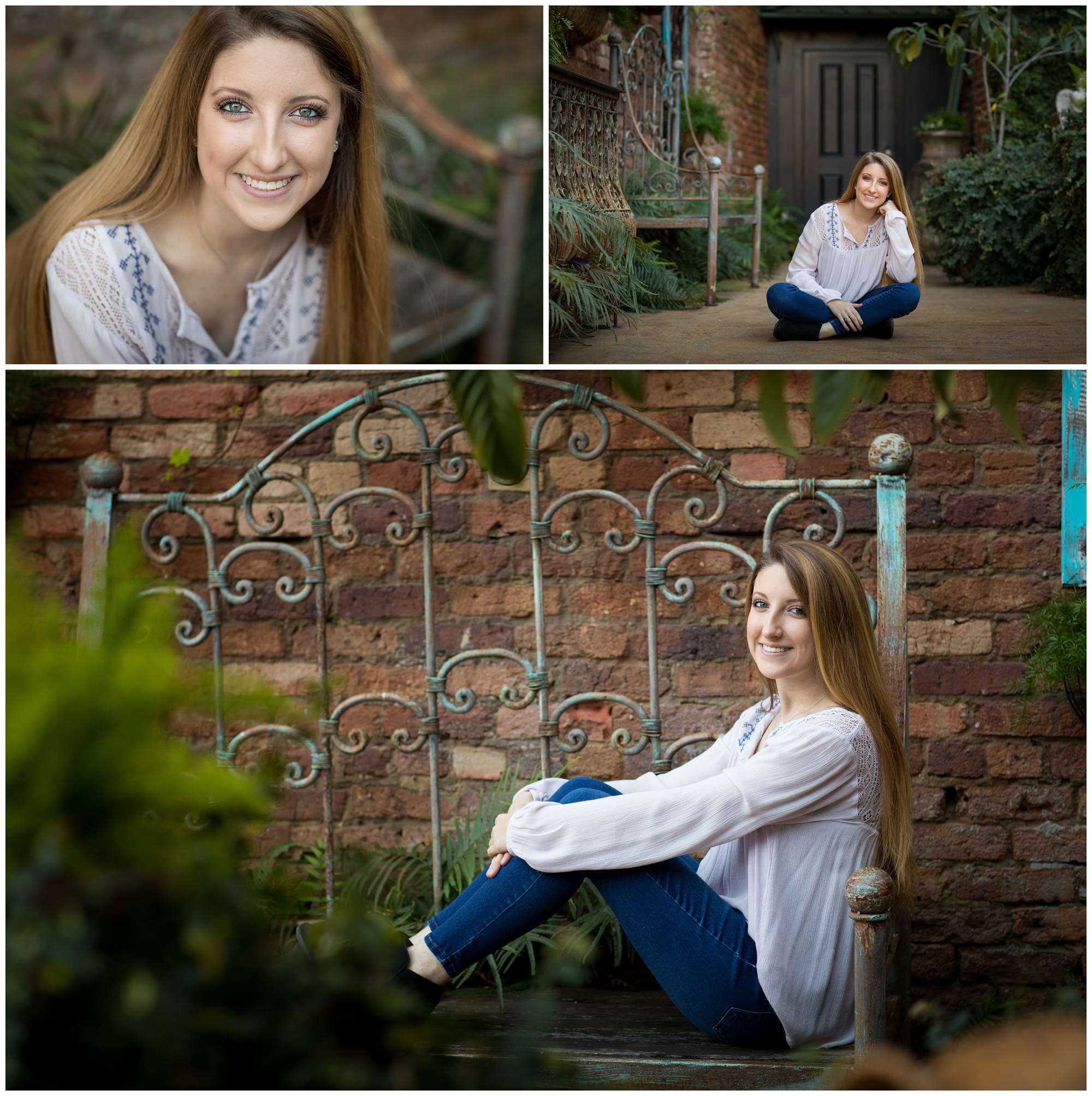 portraits of a high school senior photographed in downtown Dothan AL