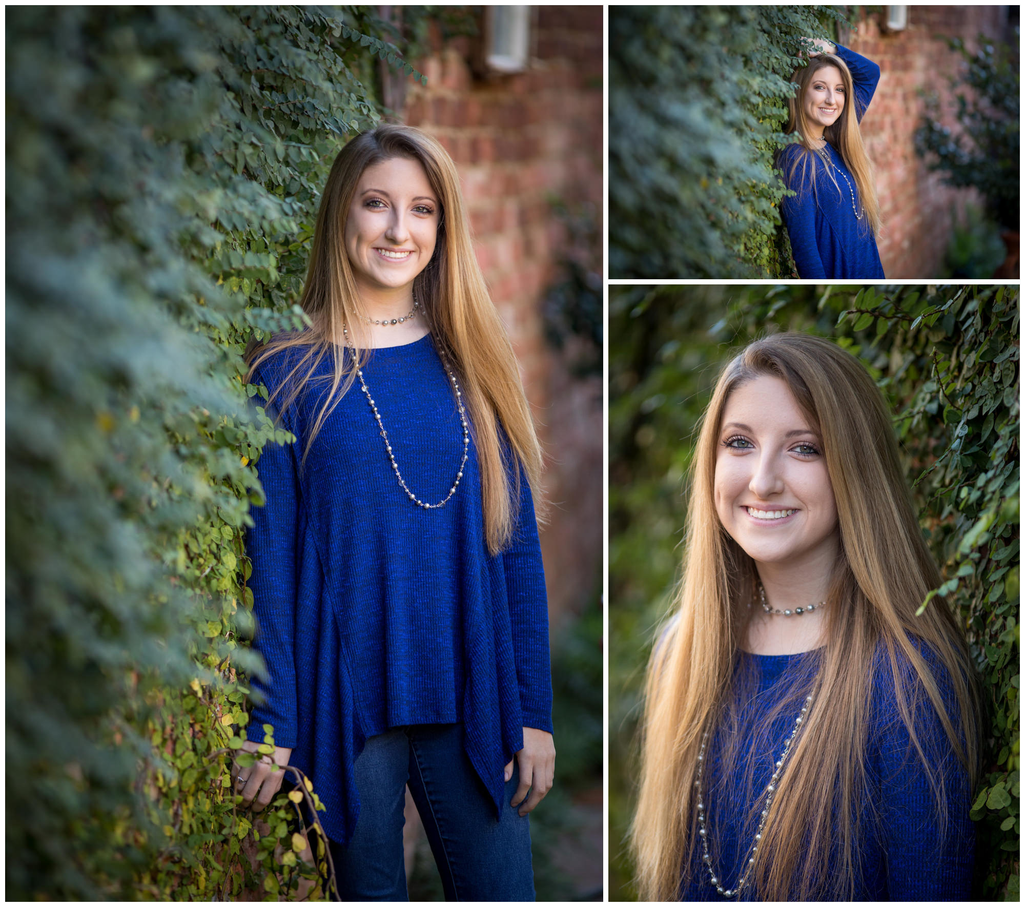 Graduate portraits on Foster street in downtown Dothan, AL. Nicole Everson Photography.