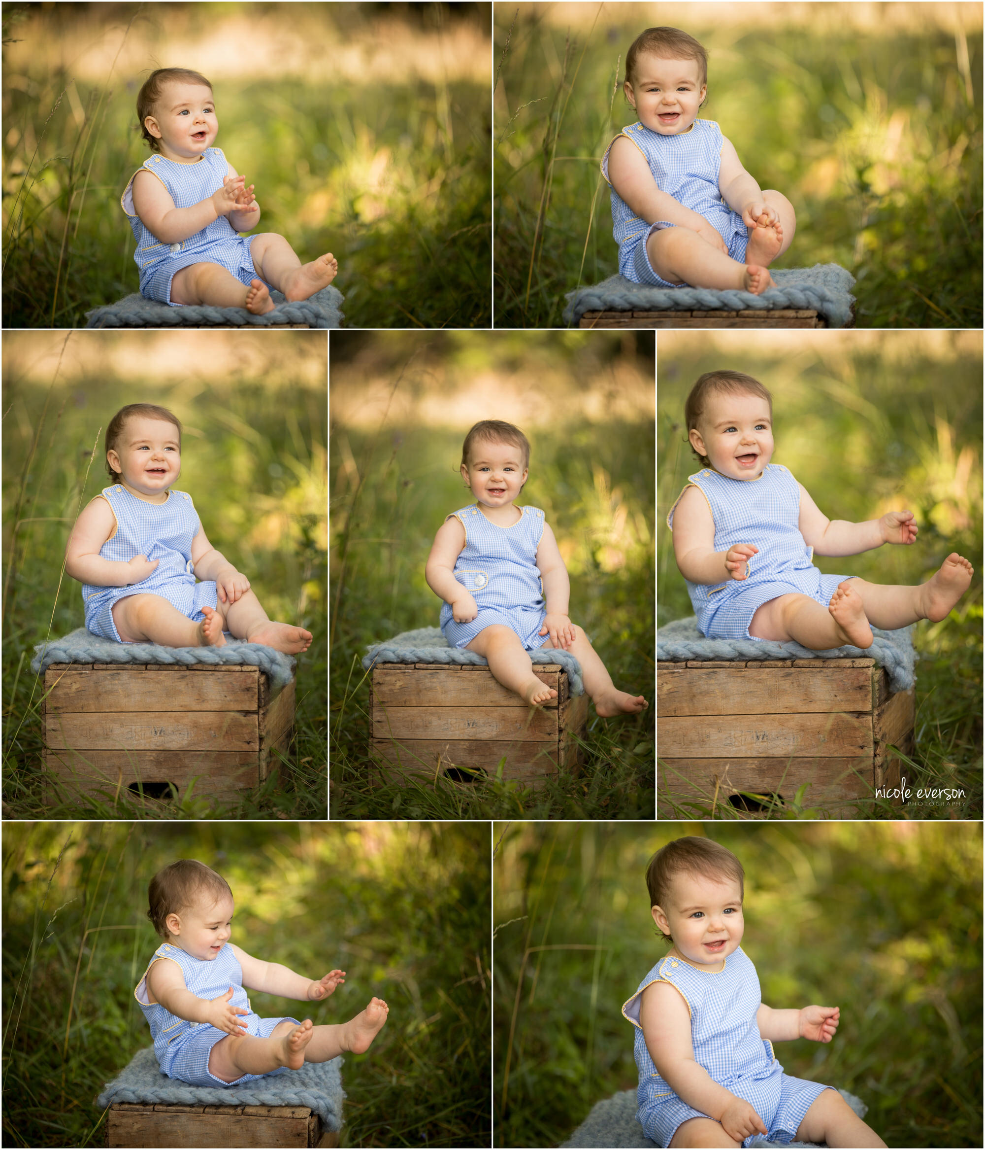 1 year old baby photos by Nicole Everson Photography