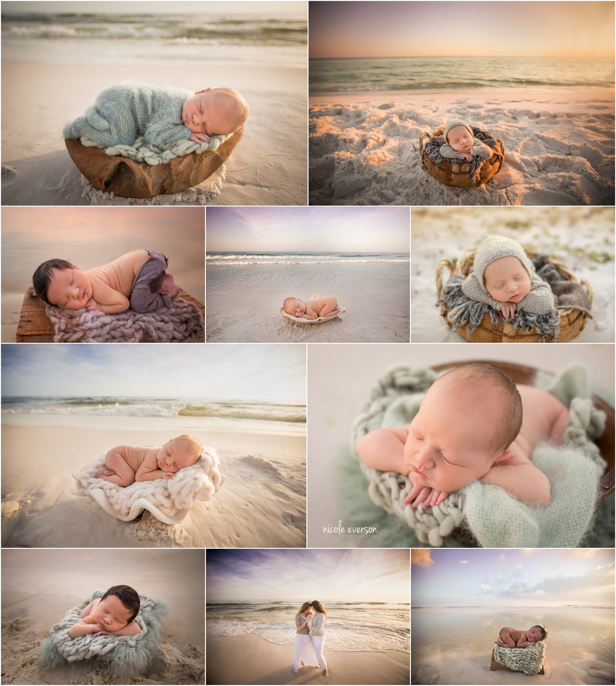 newborn beach photos destin
