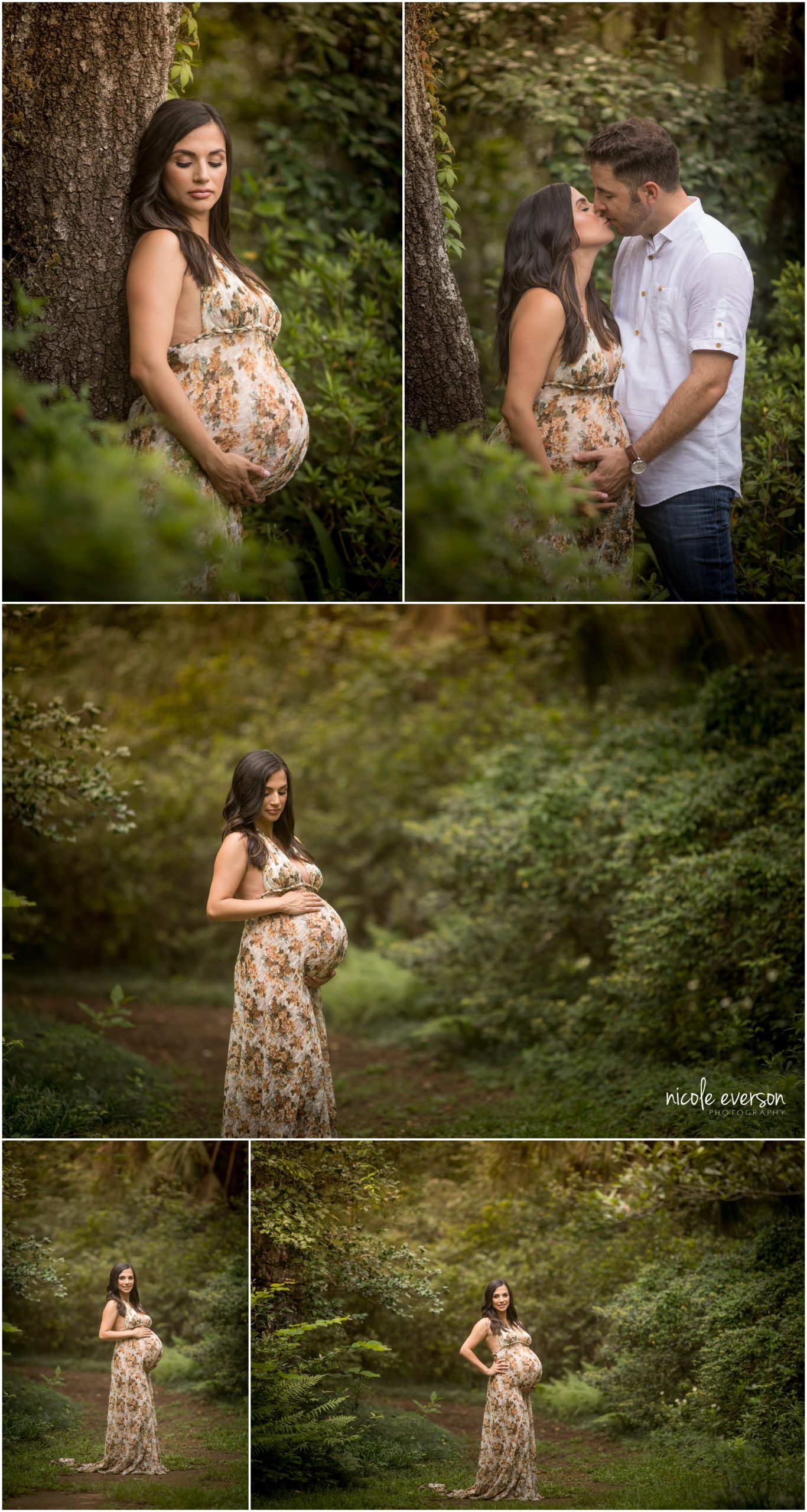 maternity photos taken at Mc Clay gardens in Tallahassee FL