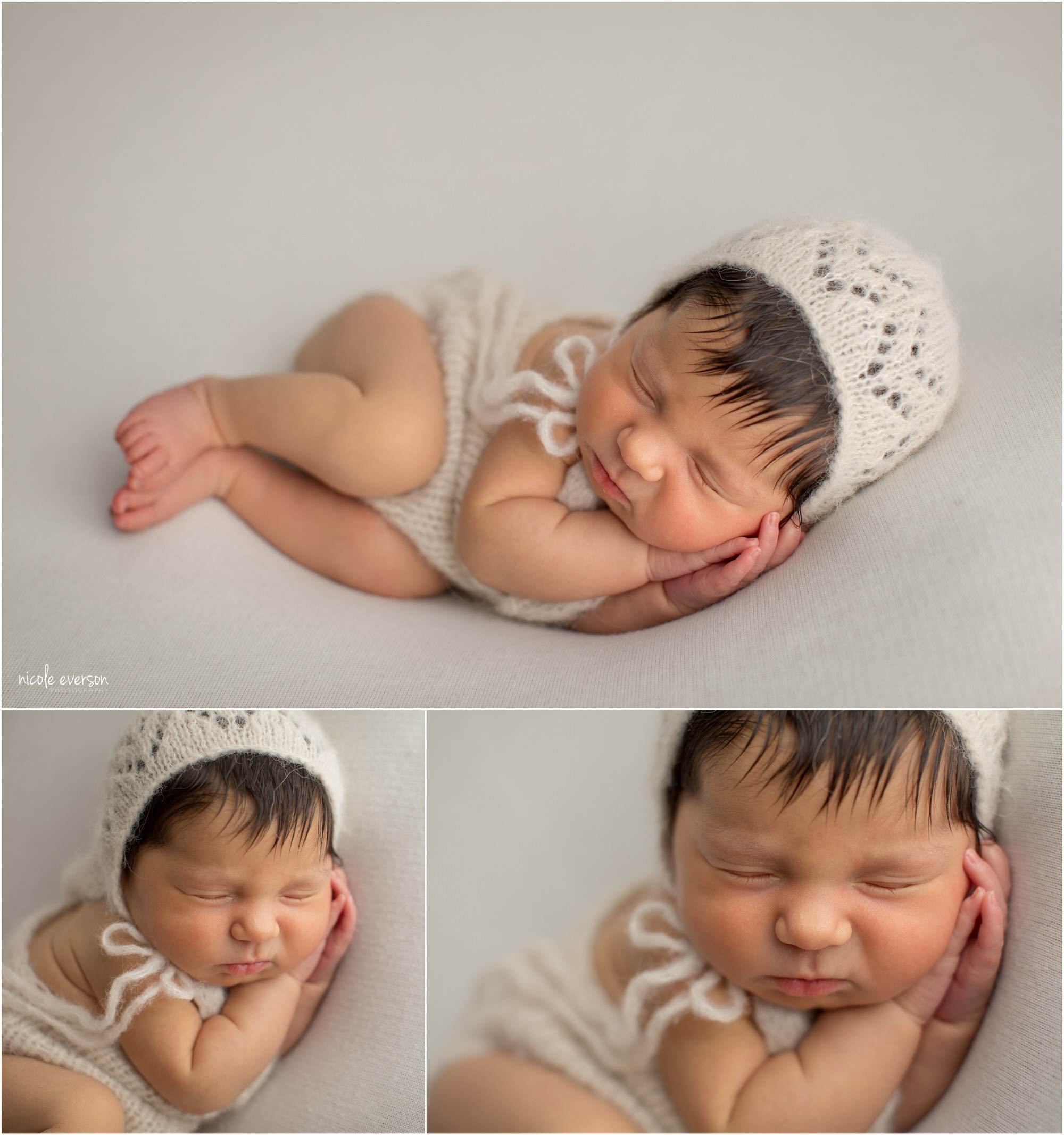 newborn baby photograph by Nicole Everson Photography