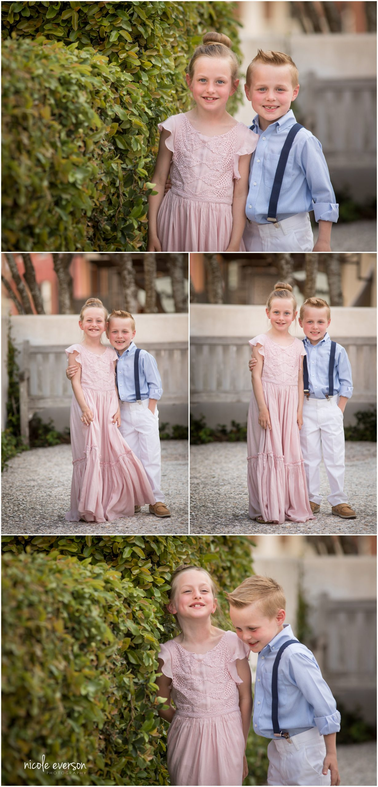 Sibling photos. Rosemary Beach family photography. Nicole Everson Photography.