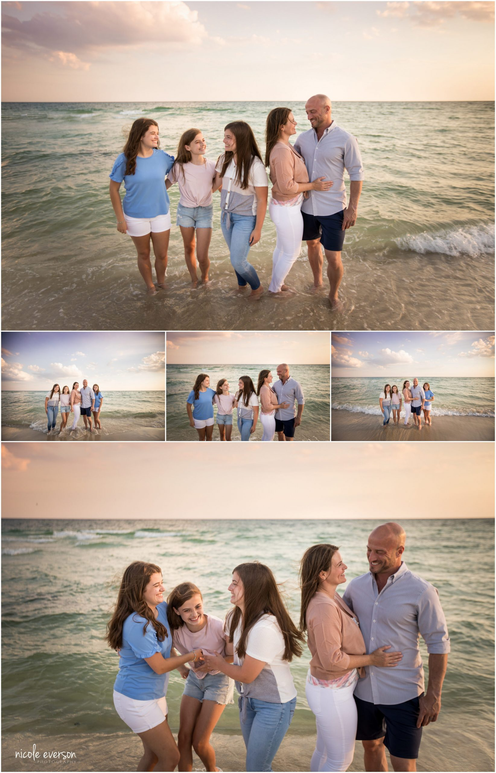 30a family beach portraits. Nicole Everson Photography.