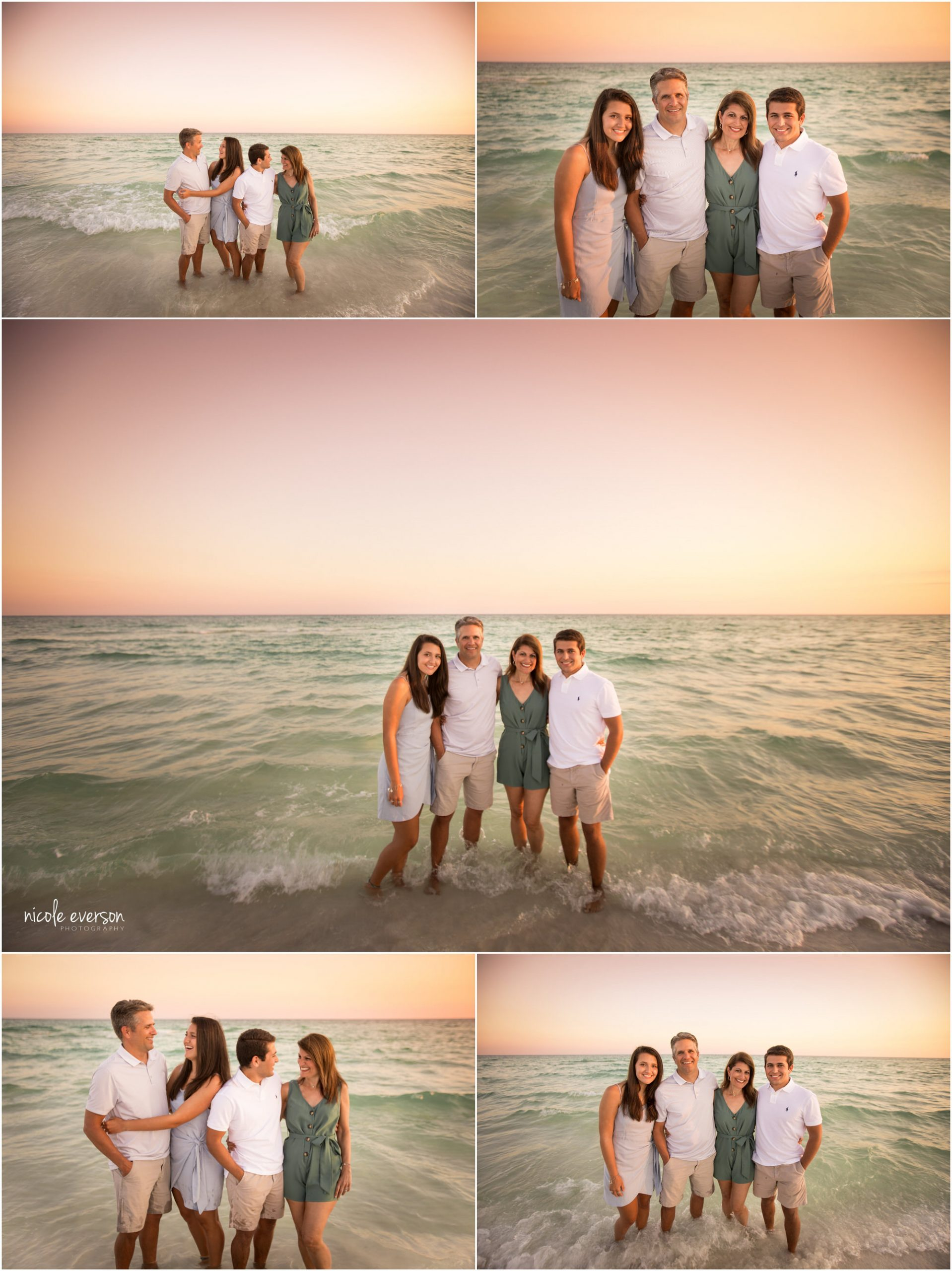 fun family beach pictures in Watercolor beach inn